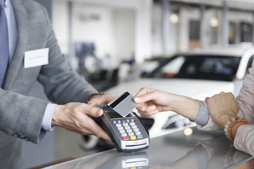 Car finance payment using a credit card