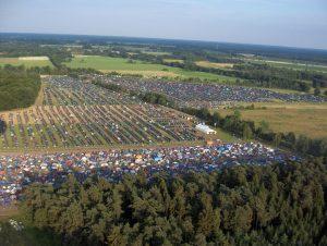 festival aerial view
