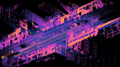 Example lidar point cloud