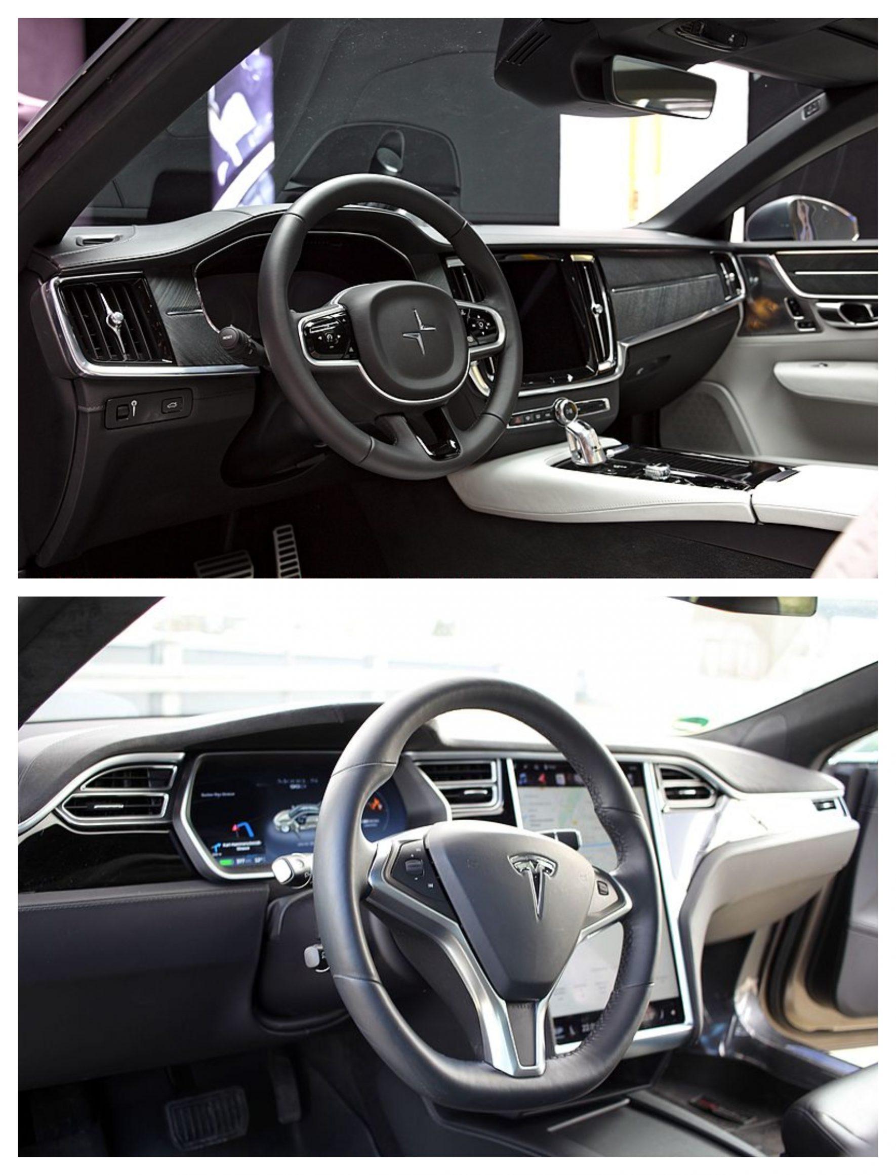 Polestar Vs Tesla 2 interior