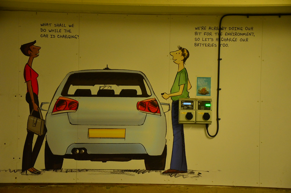 Electric car leasing graffiti