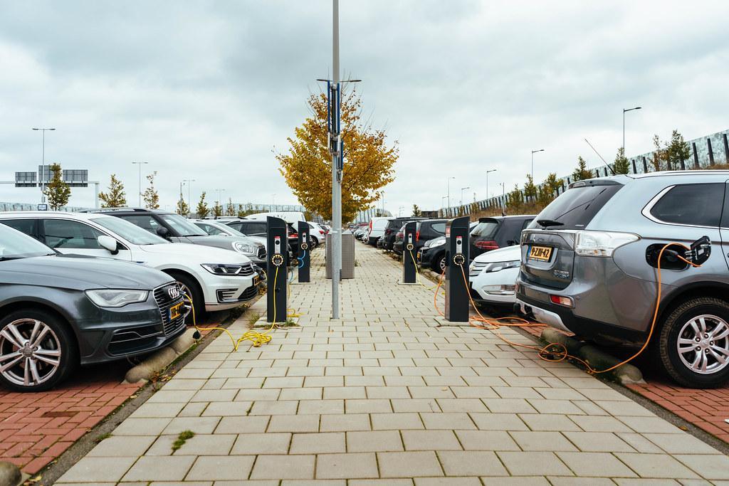 petrol and diesel ban - electric car public car charging