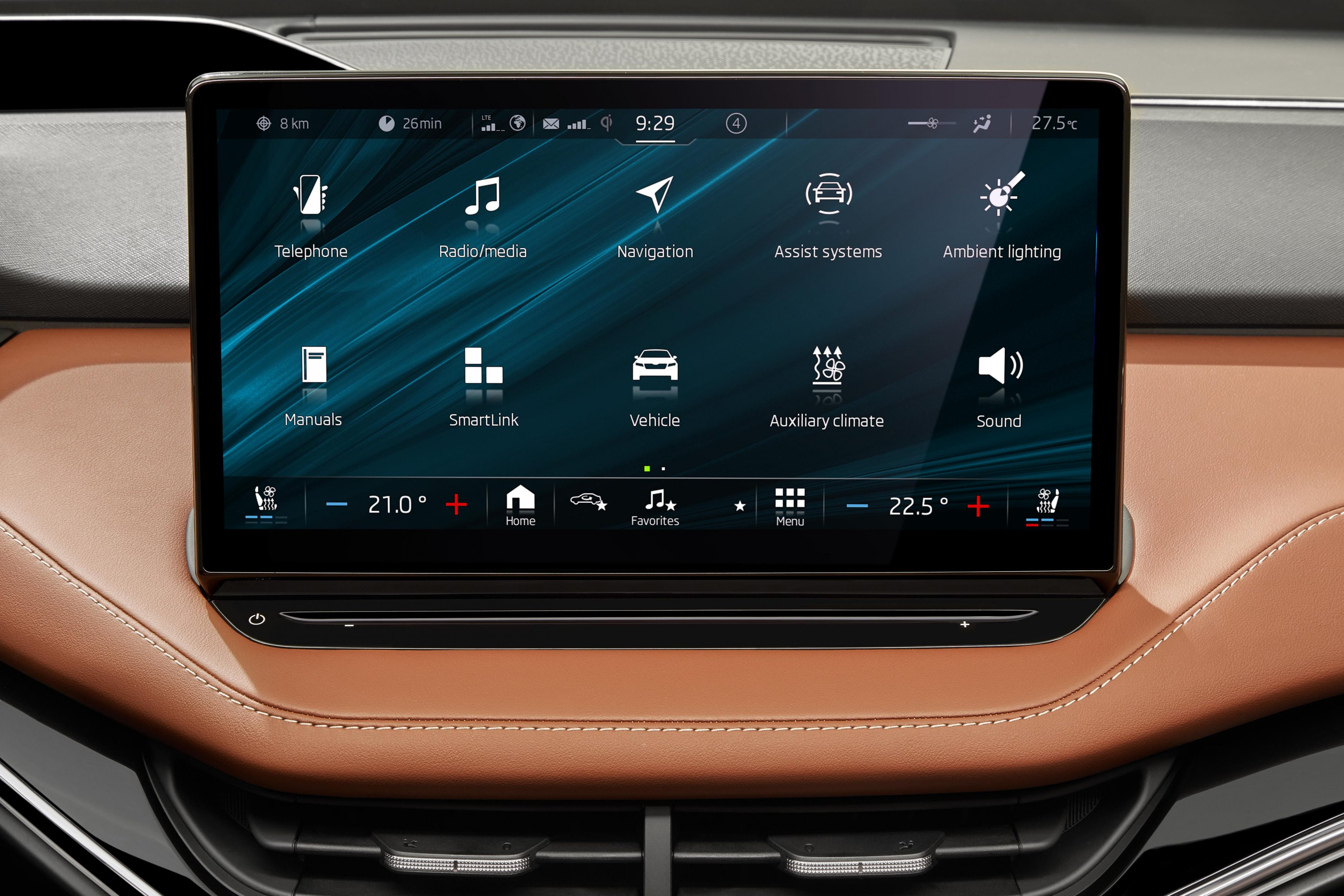 Infotainment in the Skoda Enyaq iV lets you control most of the car's functions