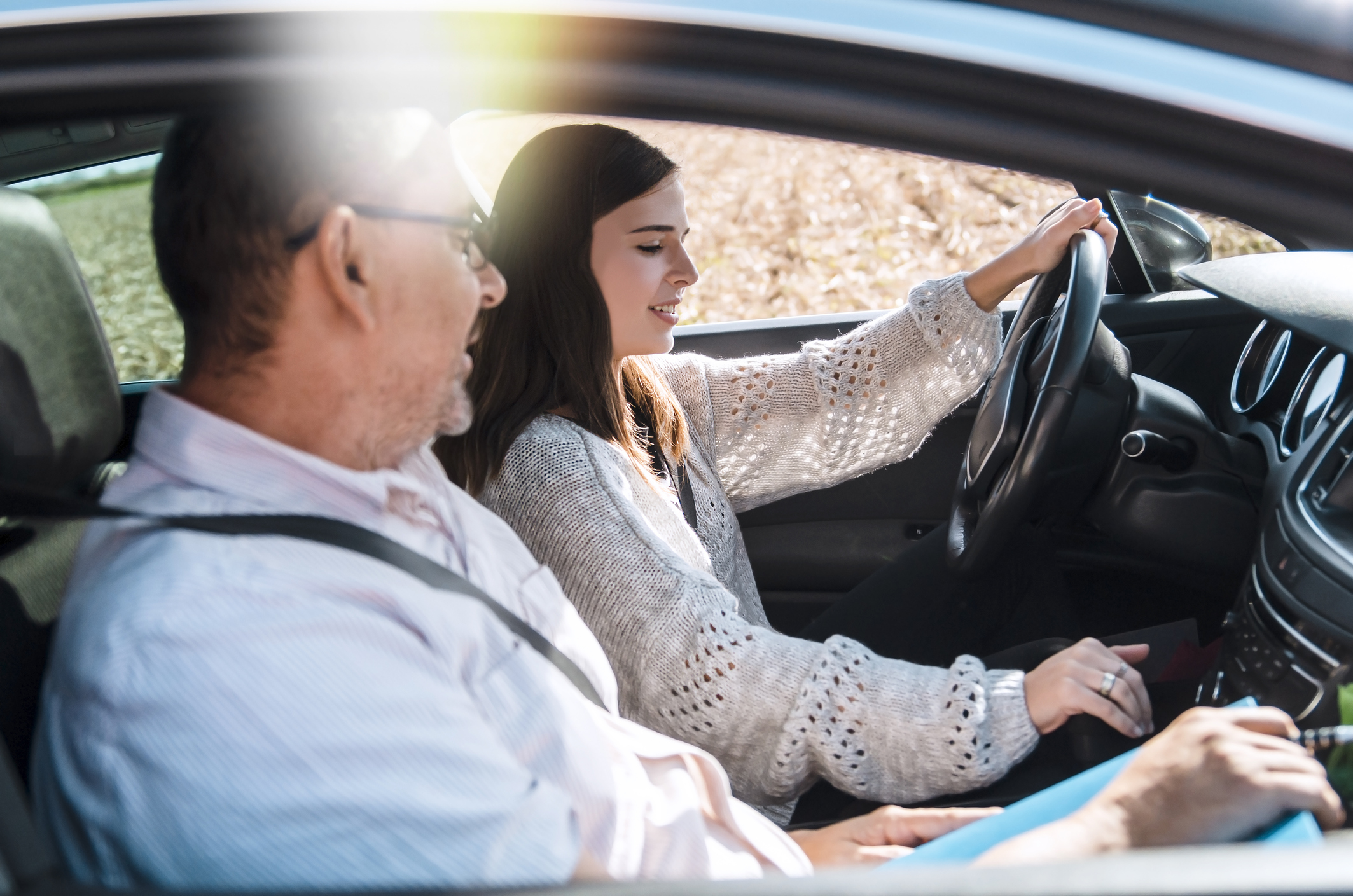 driving lesson two people