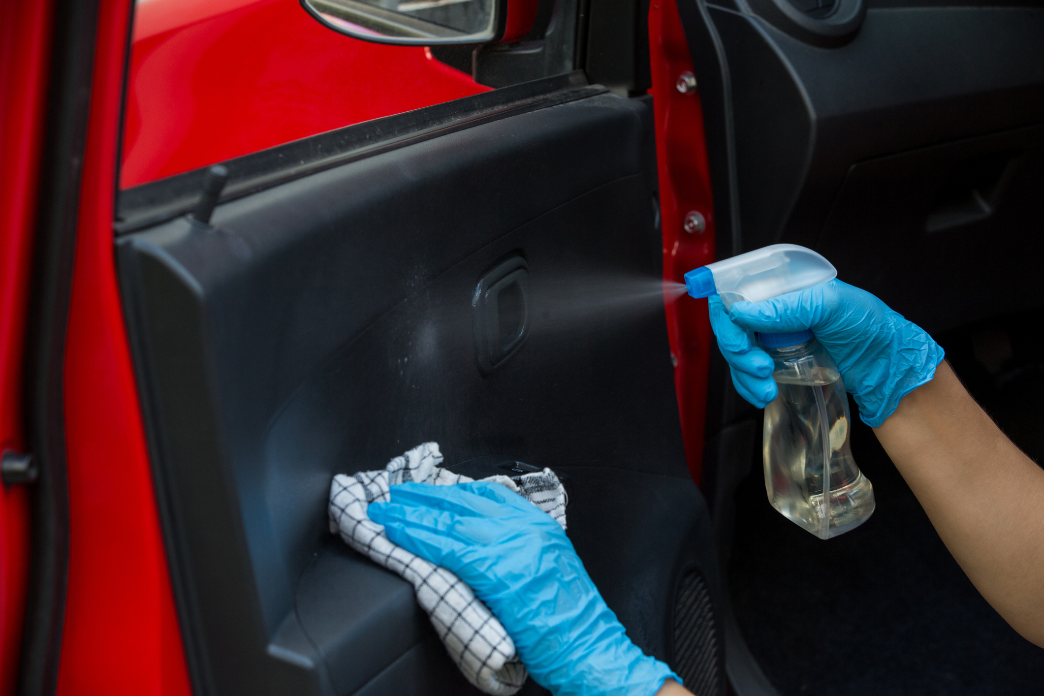 cleaning key touchpoints in car
