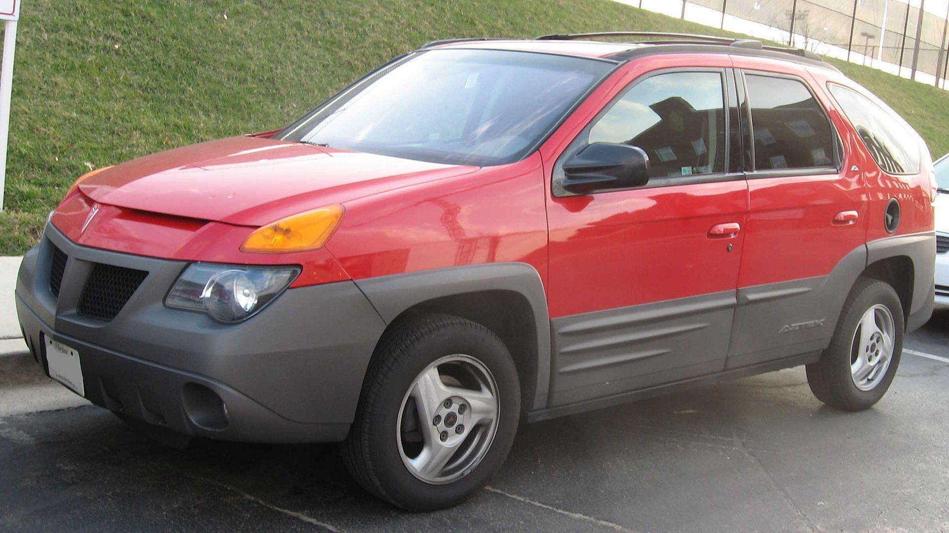 Red Pontiac Aztek. Car from Breaking Bad TV series.