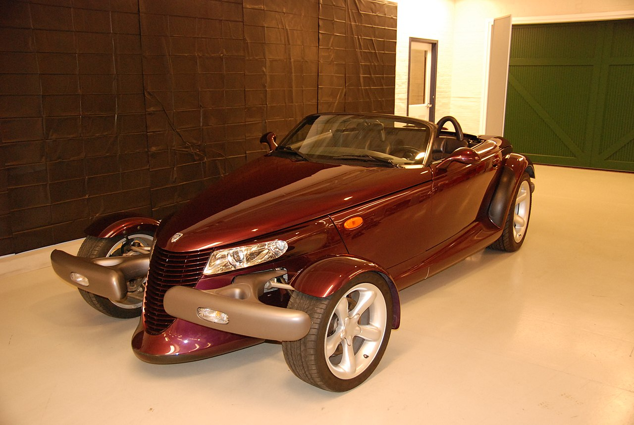 Purple Plymouth Prowler. Like something from Wacky Races.