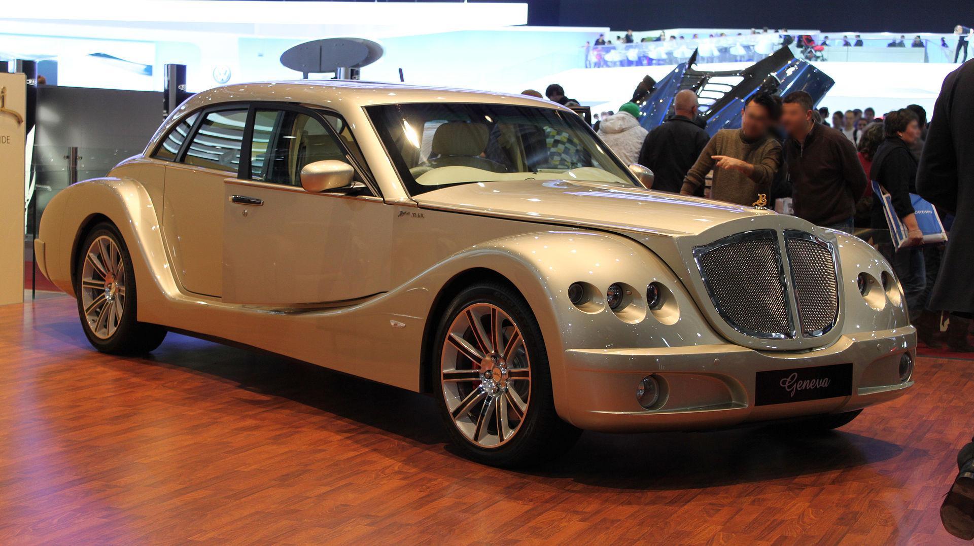 Gold Bufori Geneva. Luxurious, classy, ugly.
