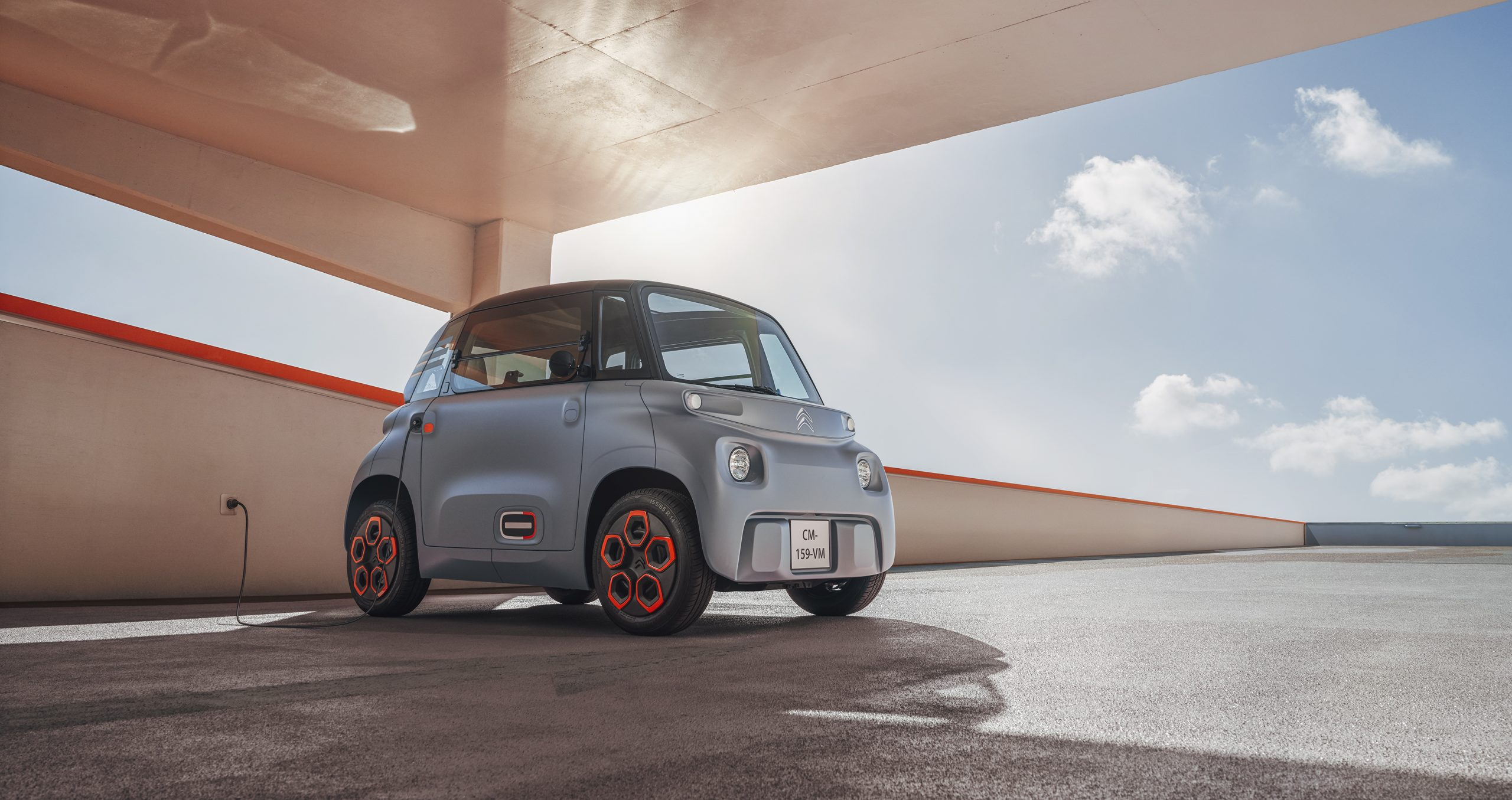 new citroën ami plugged in
