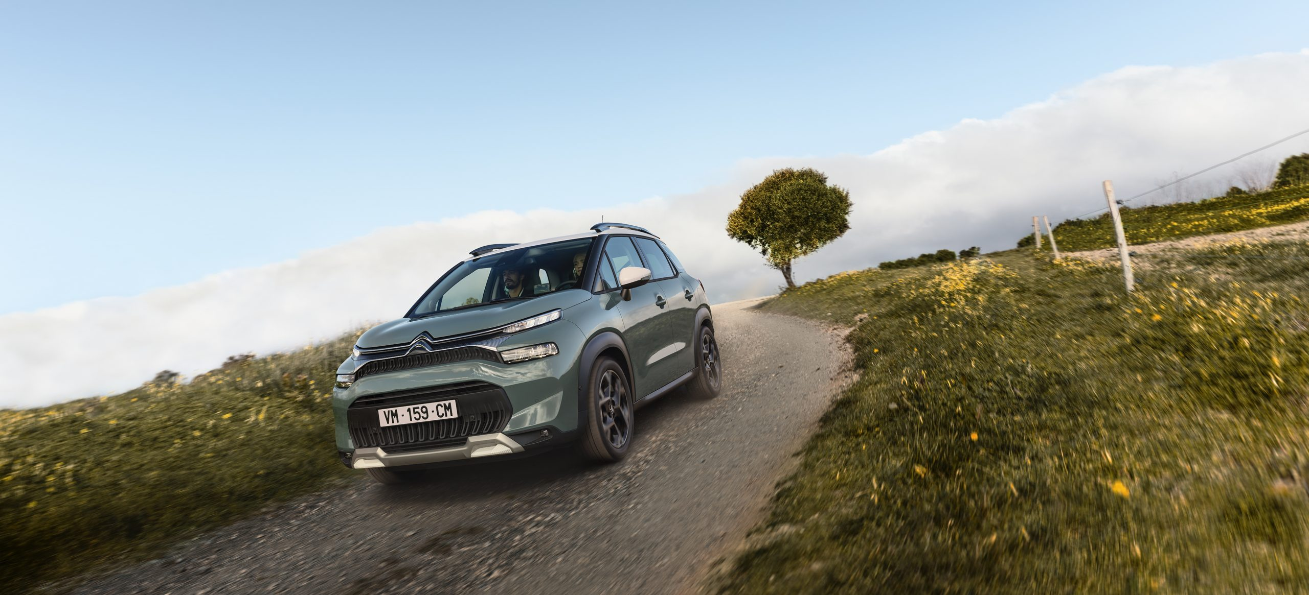 c3 aircross on tougher terrain using new features