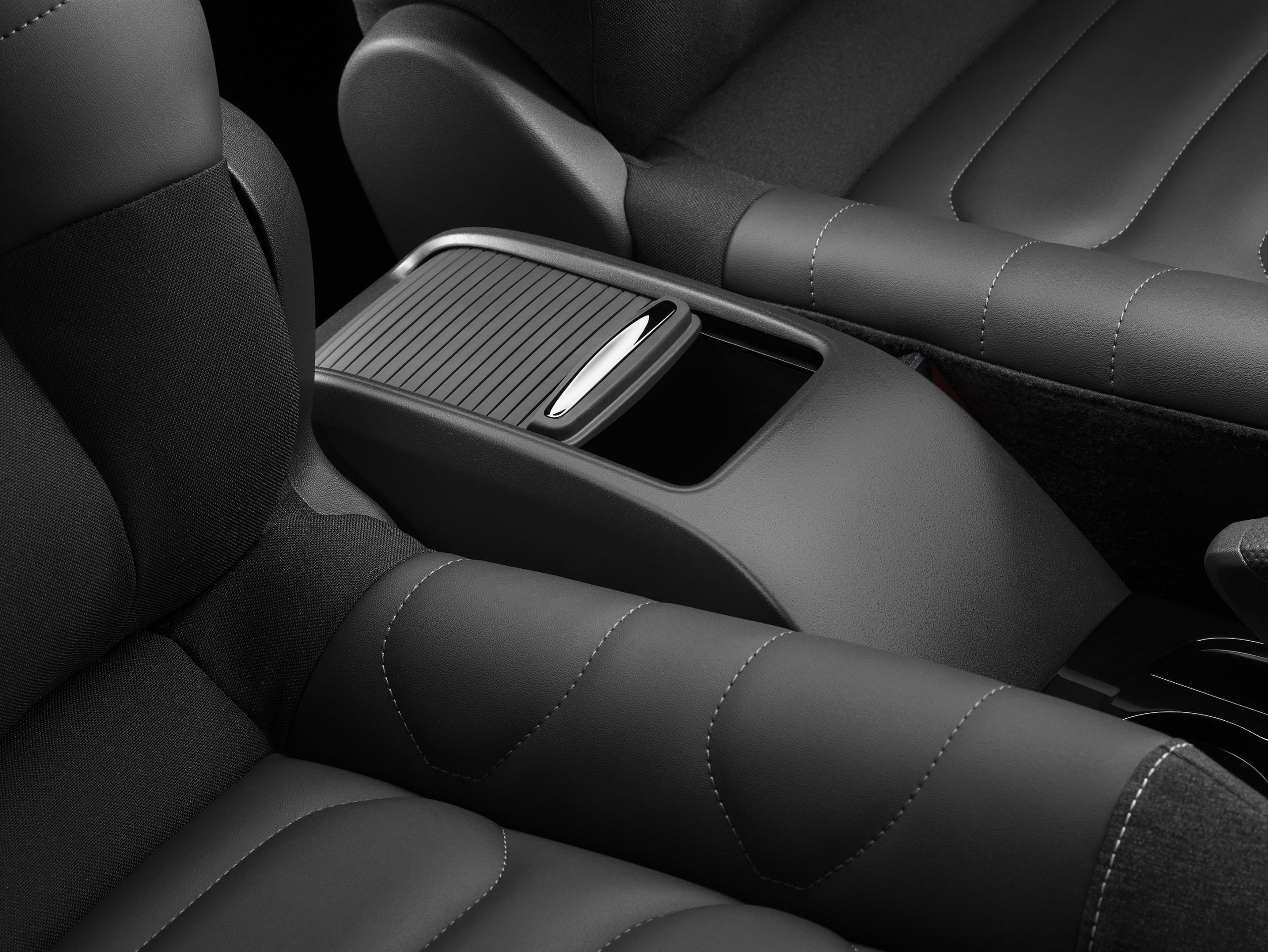 improved padding and distinctive stitching in seats