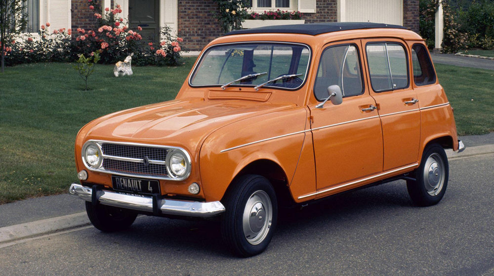 Orange Renault 4 one of the most practical classic cars