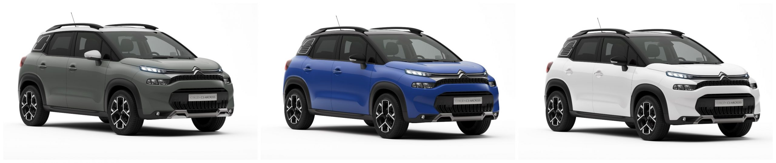 citroën c3 aircross three new body colours