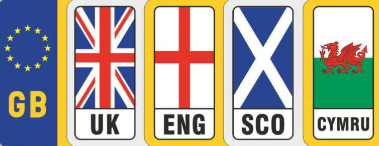 EU flag and new available flags for number plate