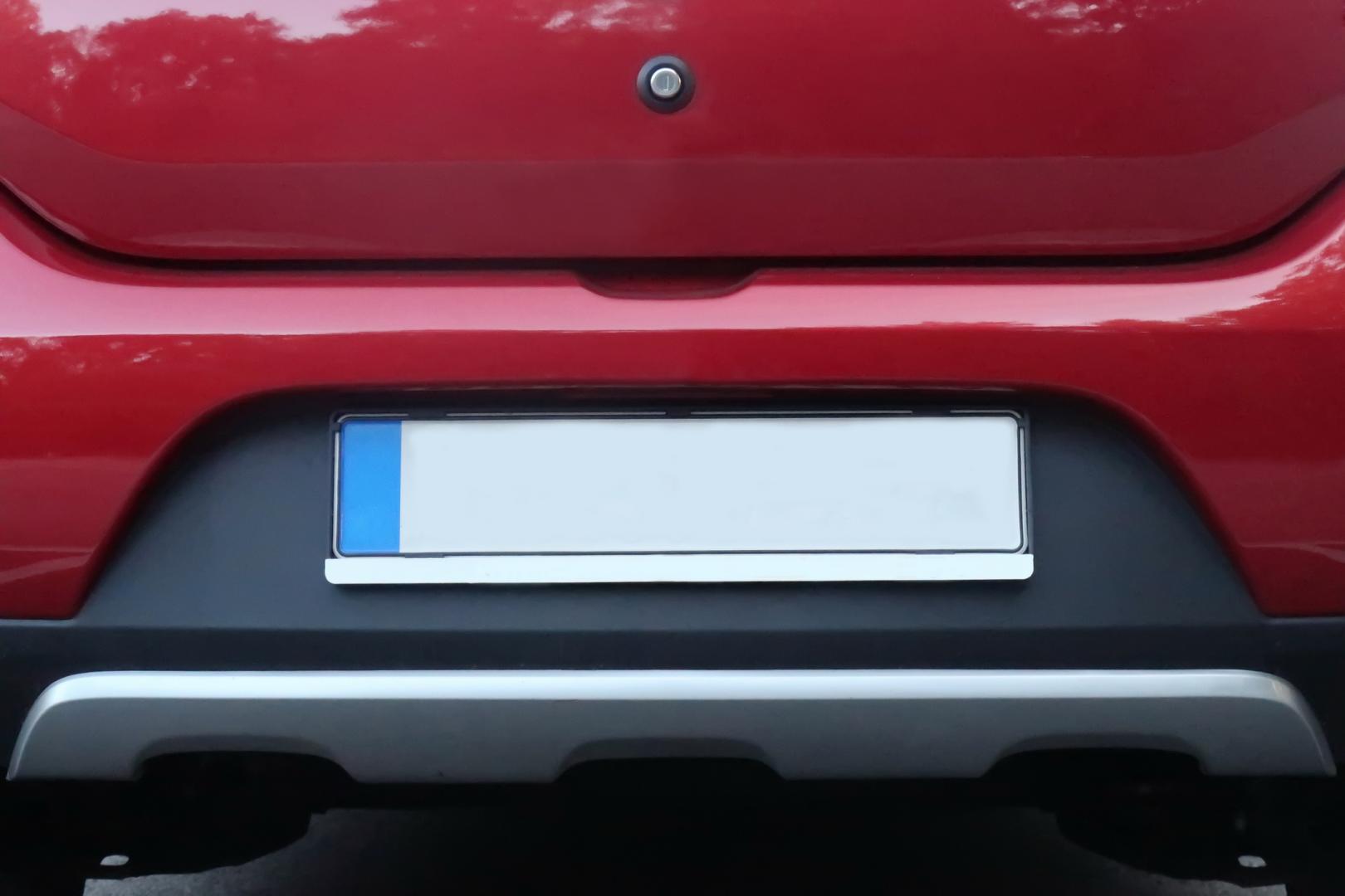 blank car registration plate