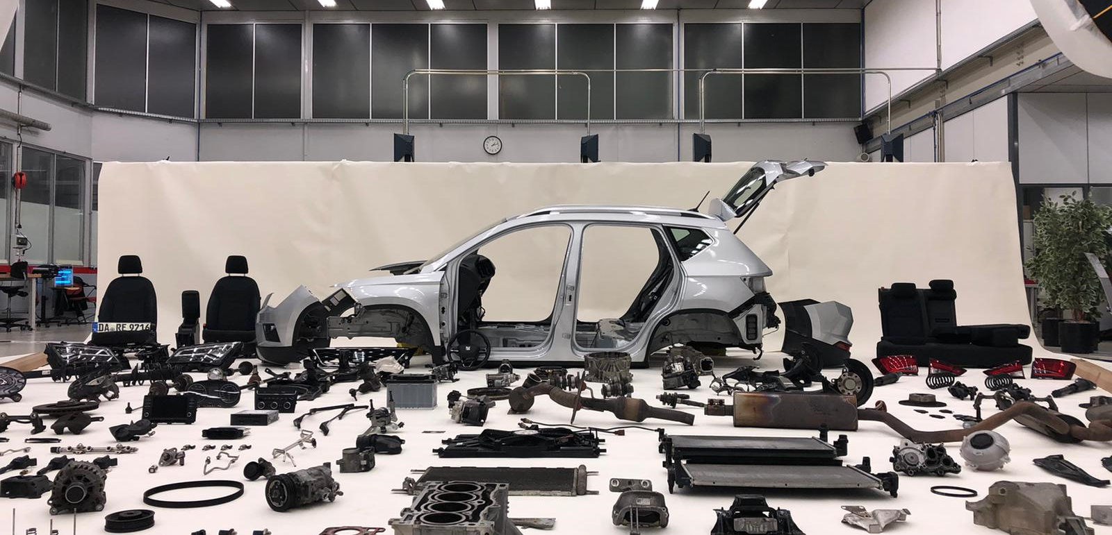 The Seat Ateca was disassembled after travelling 10,000km