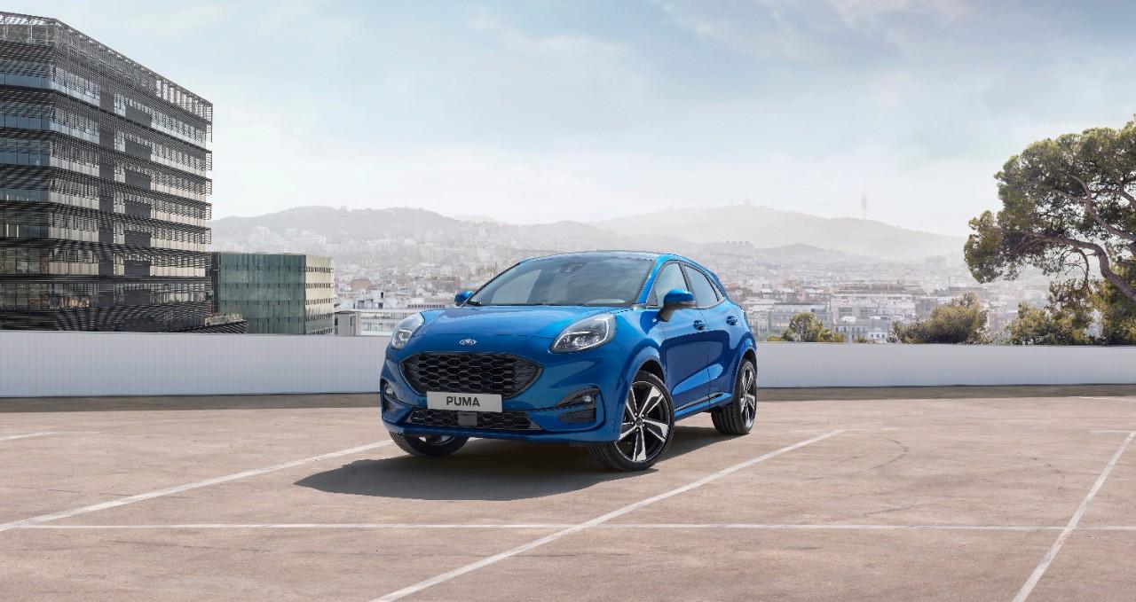 blue ford puma compact SUV