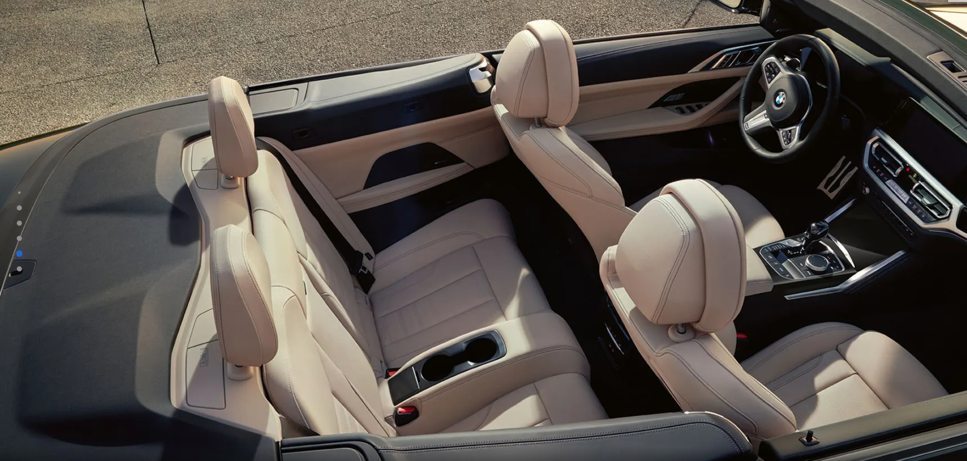 luxurious interior of the 4 series