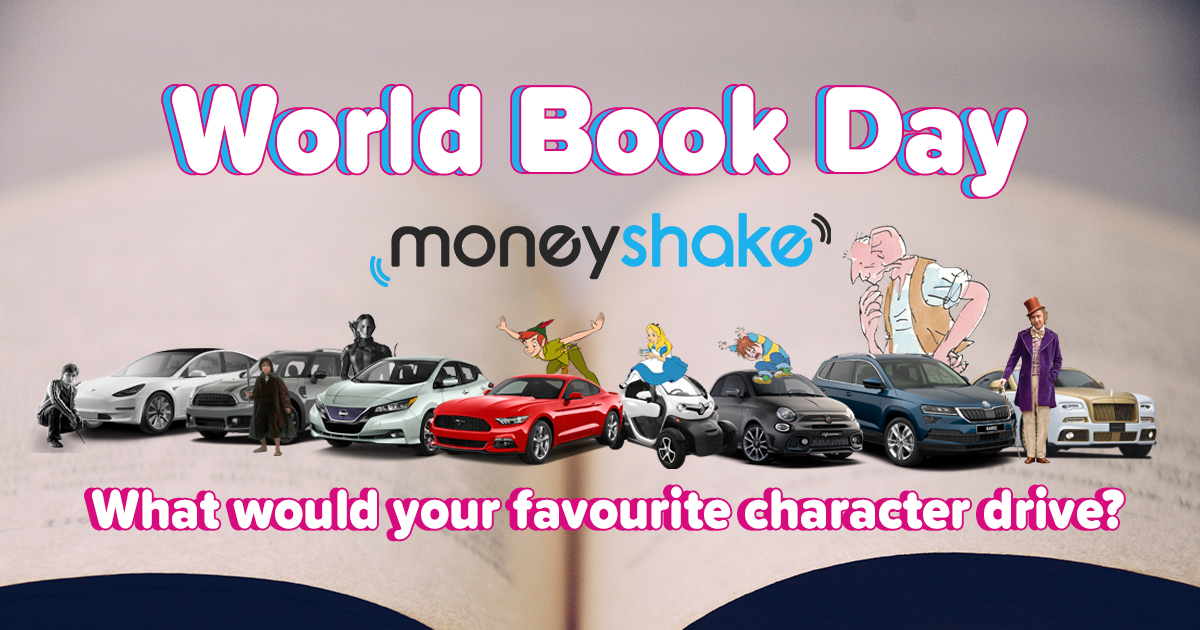 popular world book day characters with cars