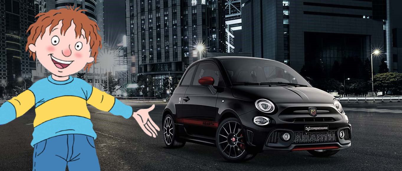 horrid henry with his abarth 595