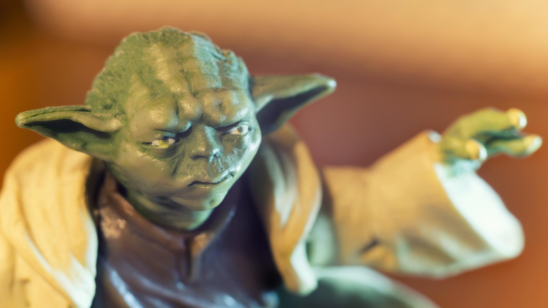 toy Yoda figure