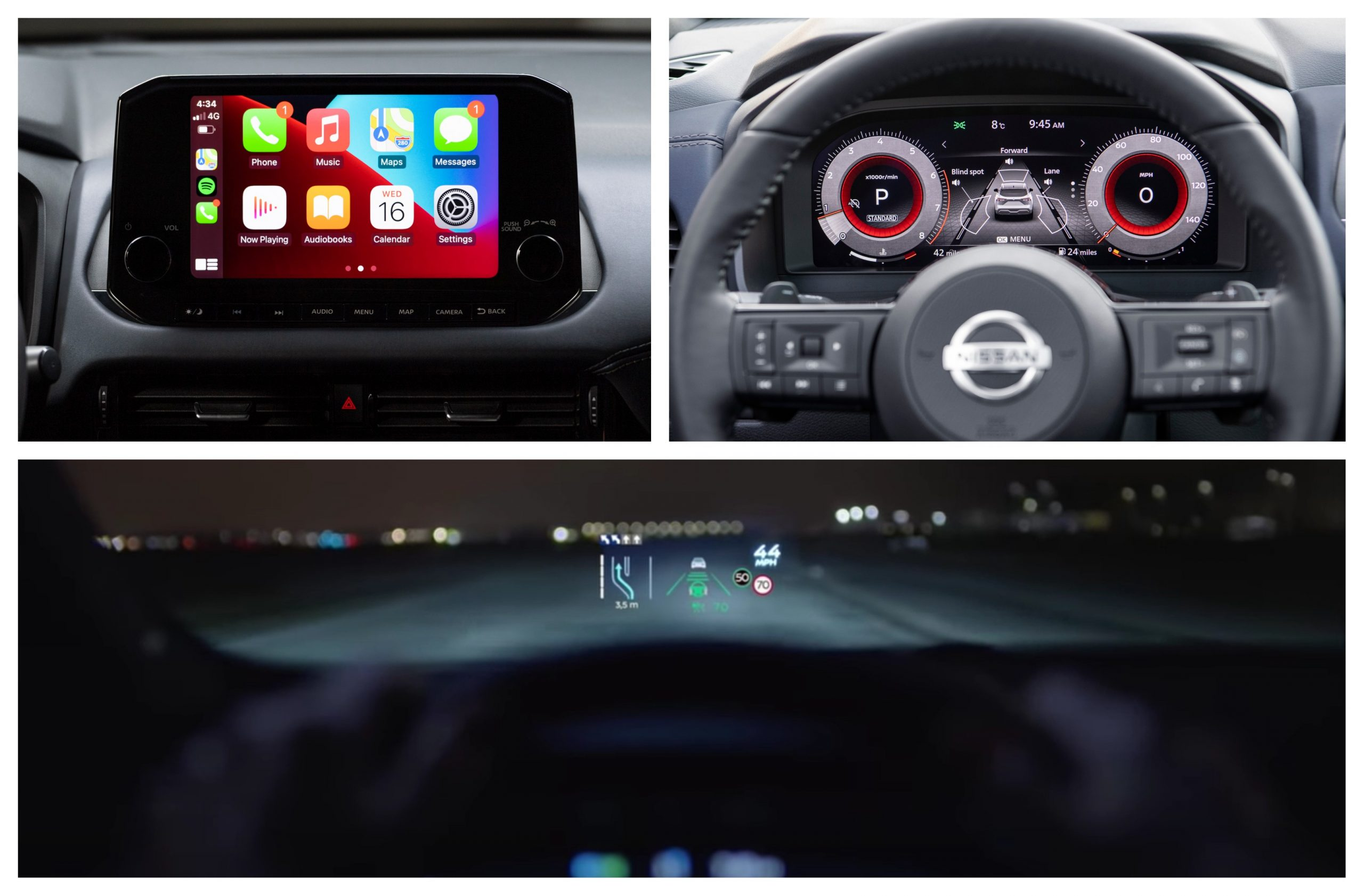 The new Nissan Qashqai's infotainment system is made up of three digital screens.
