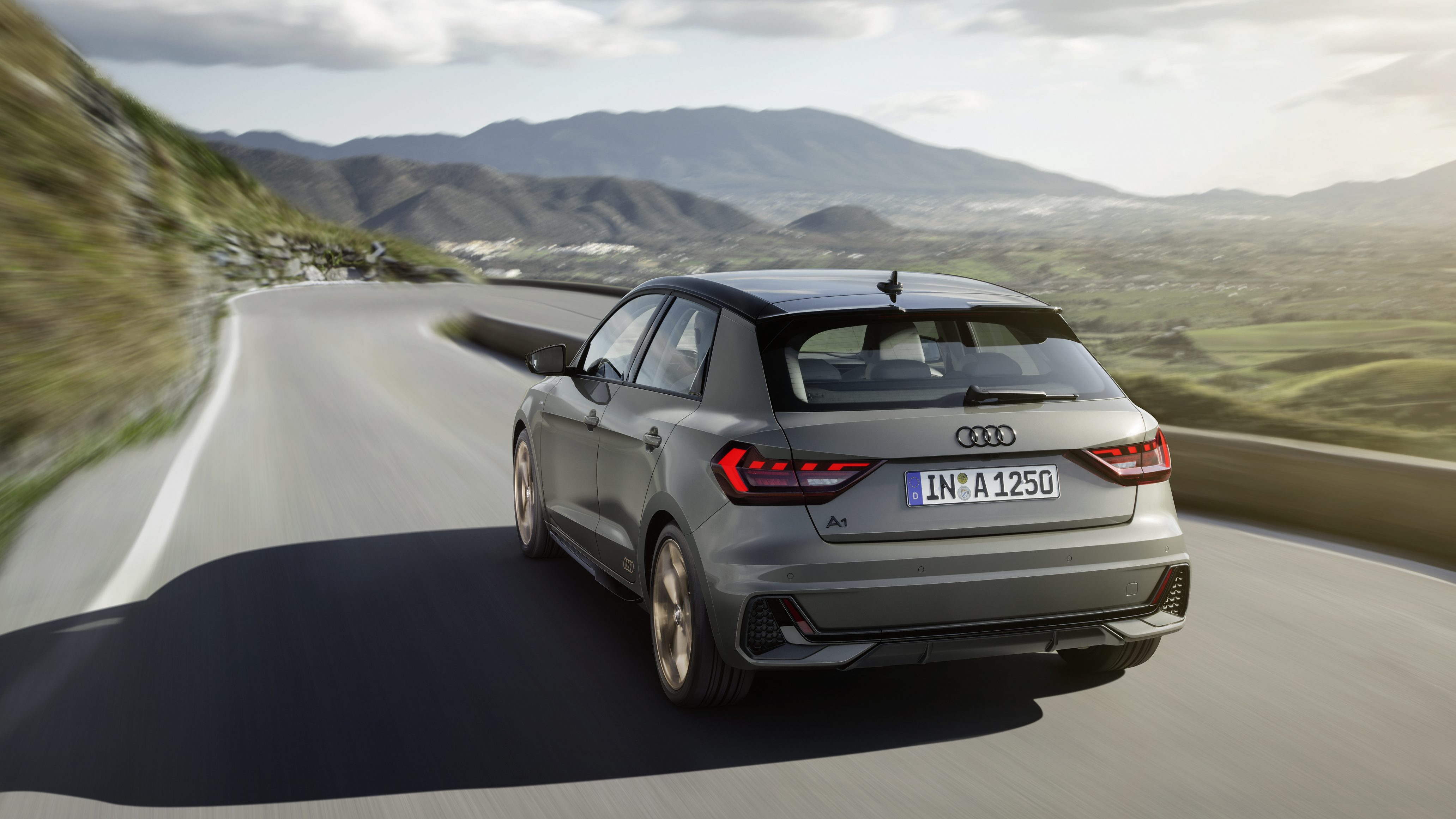 Audi A1 Sportback on a nice country road