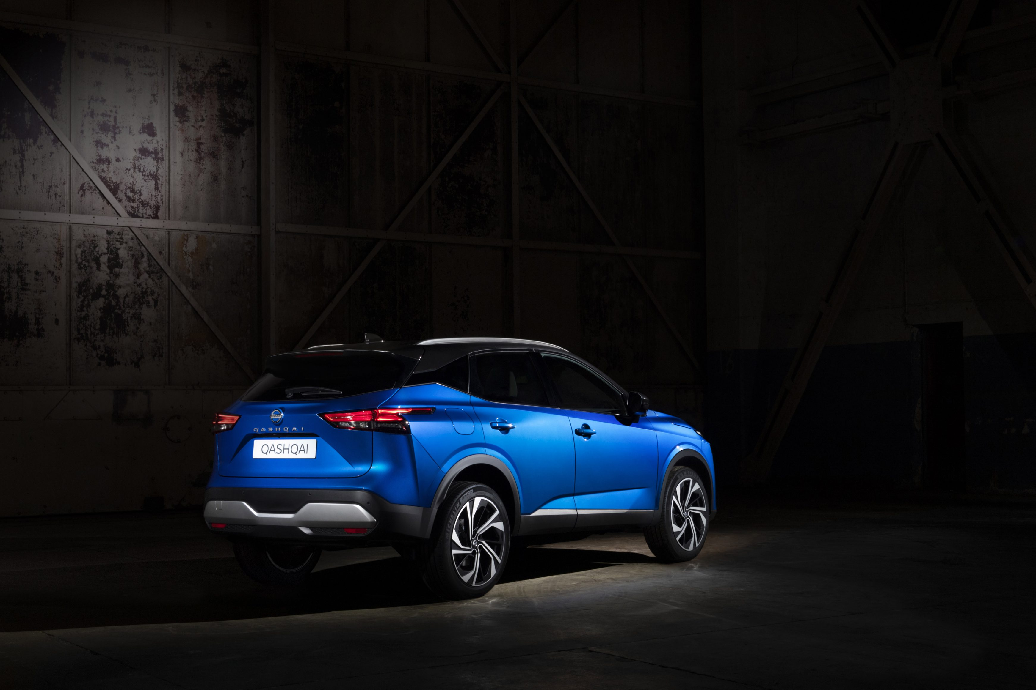 All-new 2021 Nissan Qashqai pictured in the dark