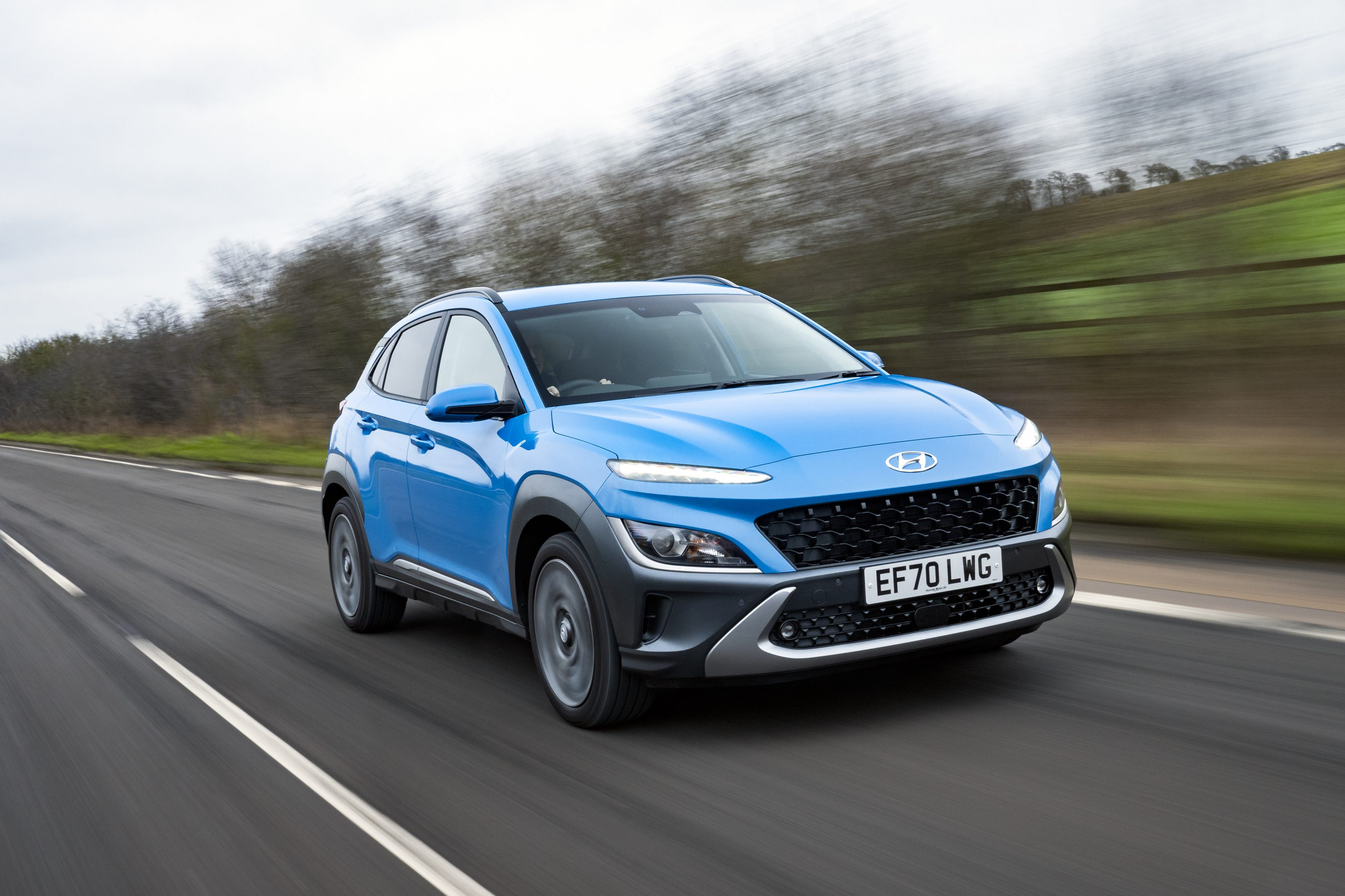 The 2021 Hyundai Kona Hybrid is quicker than the combustion fuel version