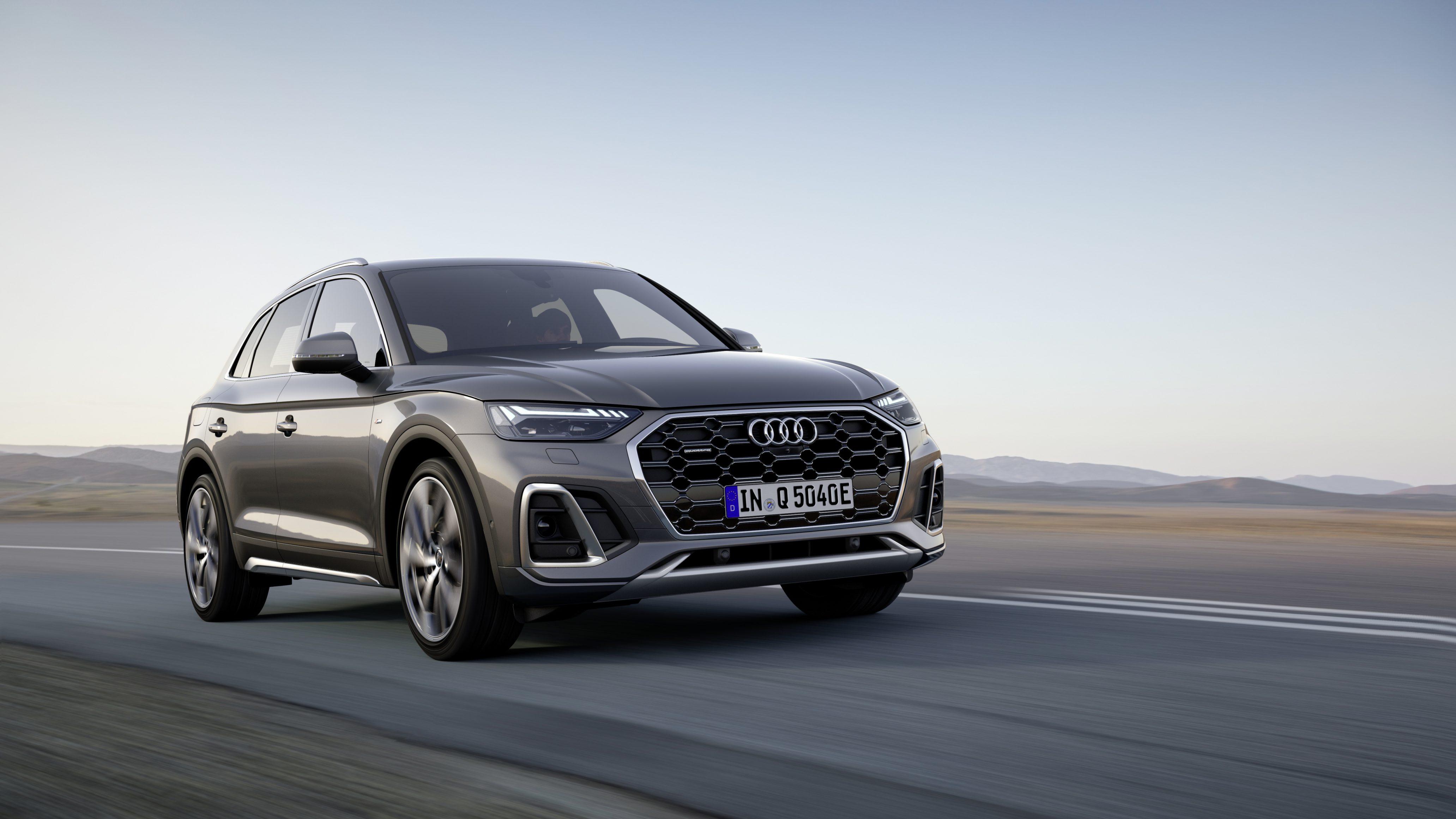 Audi Q5 driving through the desert