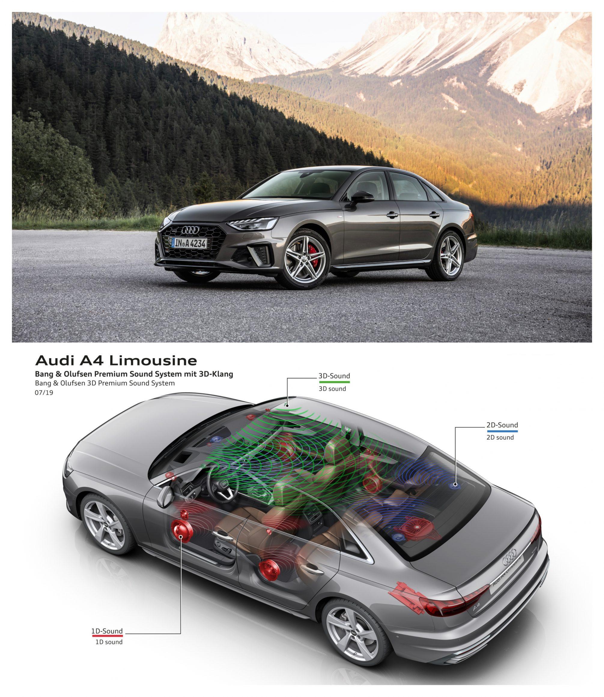 Audi A4 Saloon Bang & Olufsen premium sound system