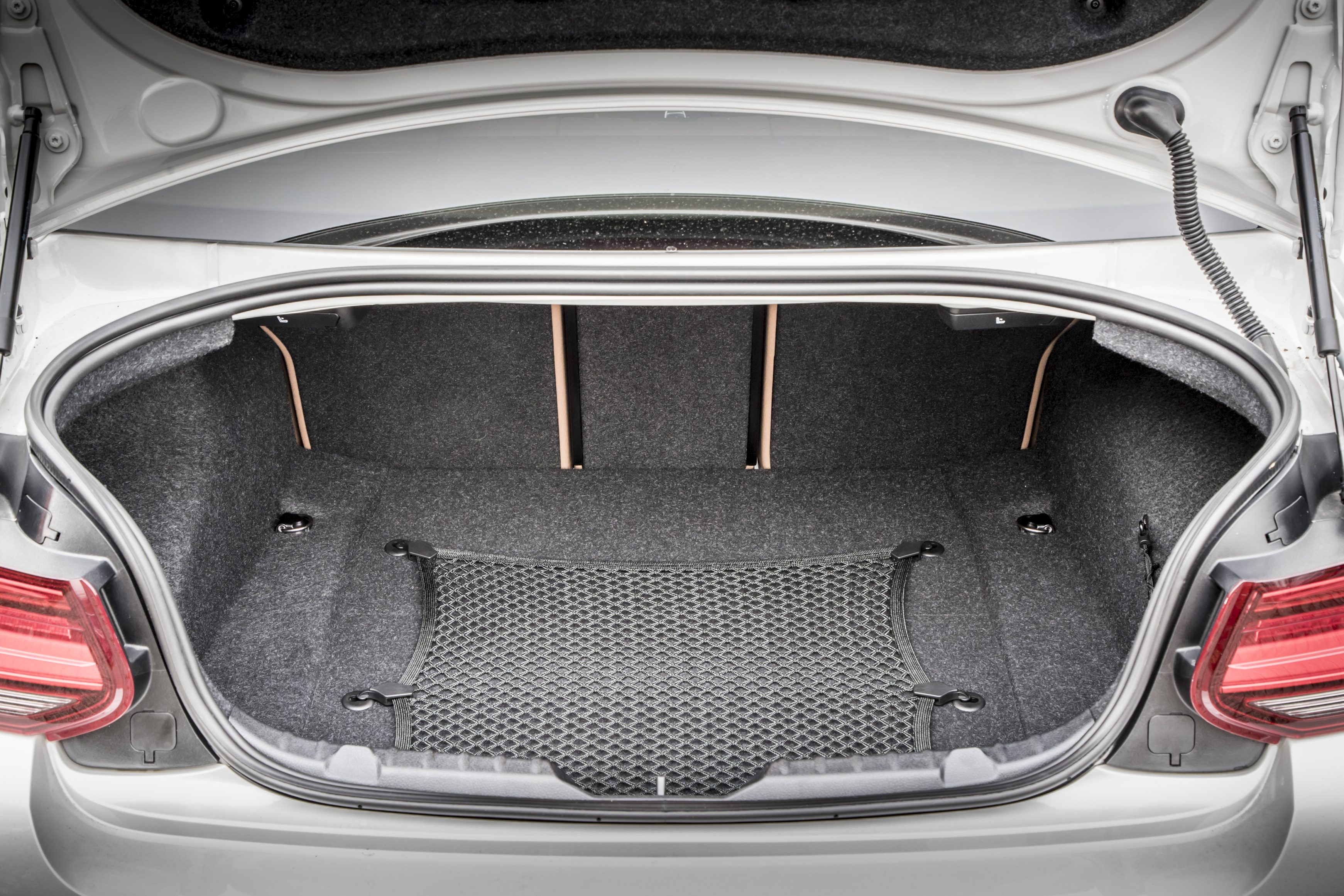 BMW 2 Series boot pictured open