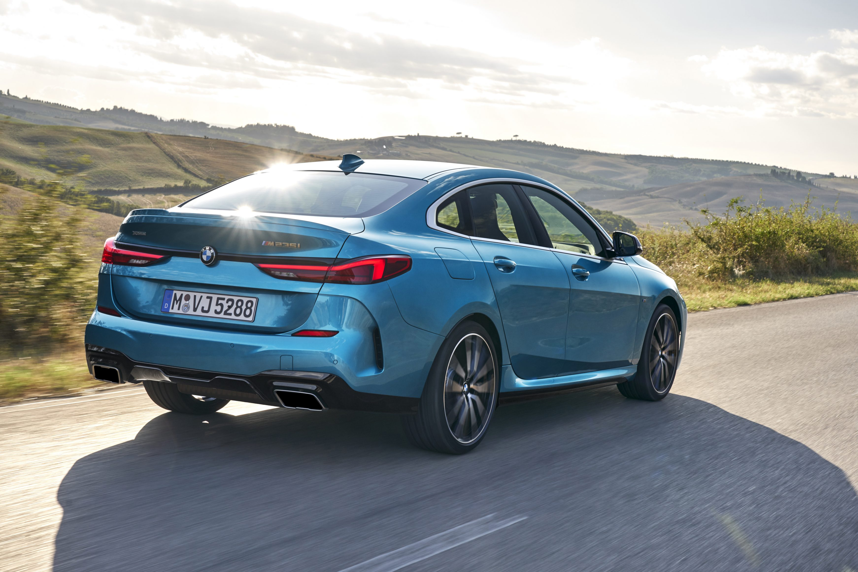 BMW 2 Series Gran Coupe from the rear