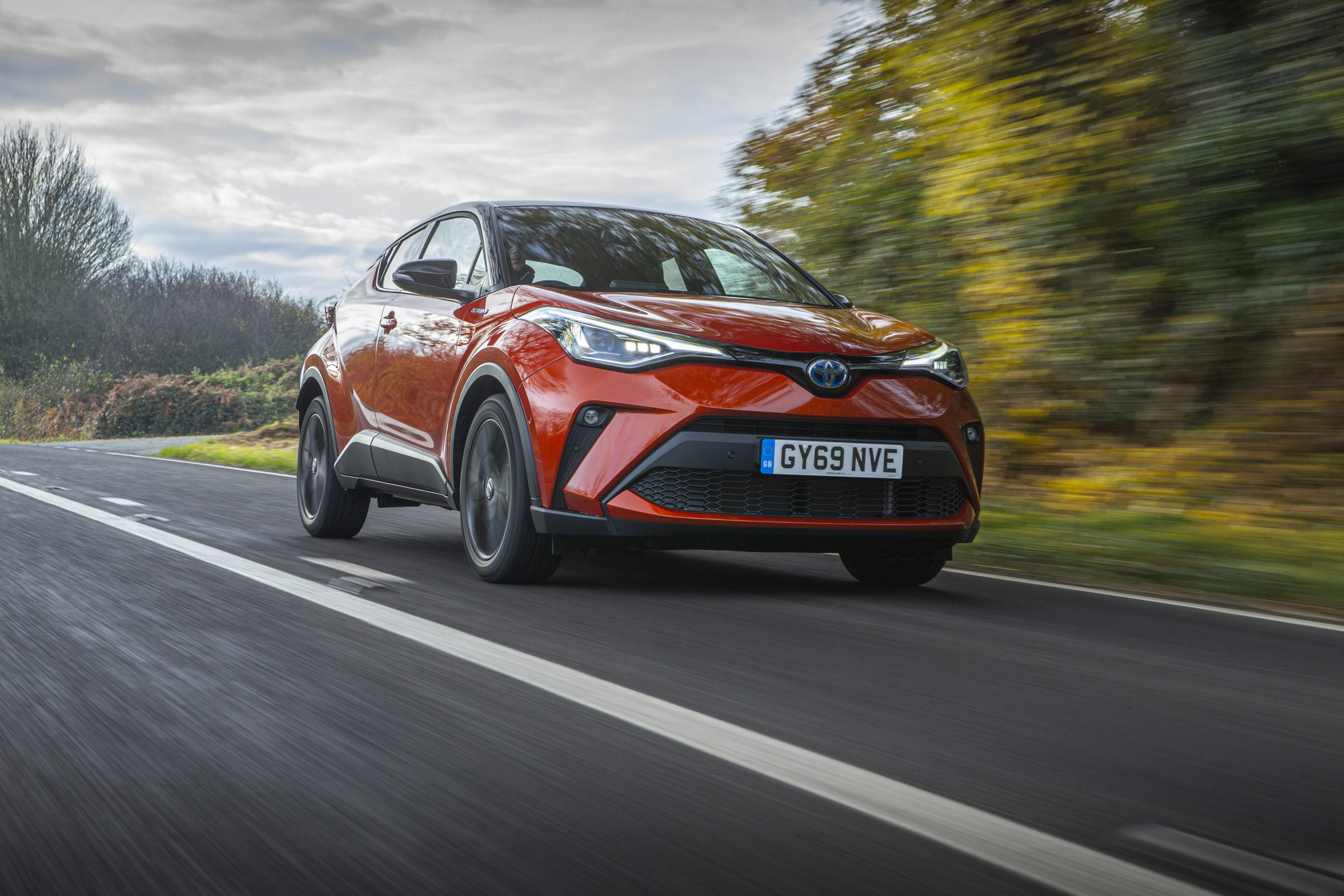 Toyota-C-HR driving on a country road 2