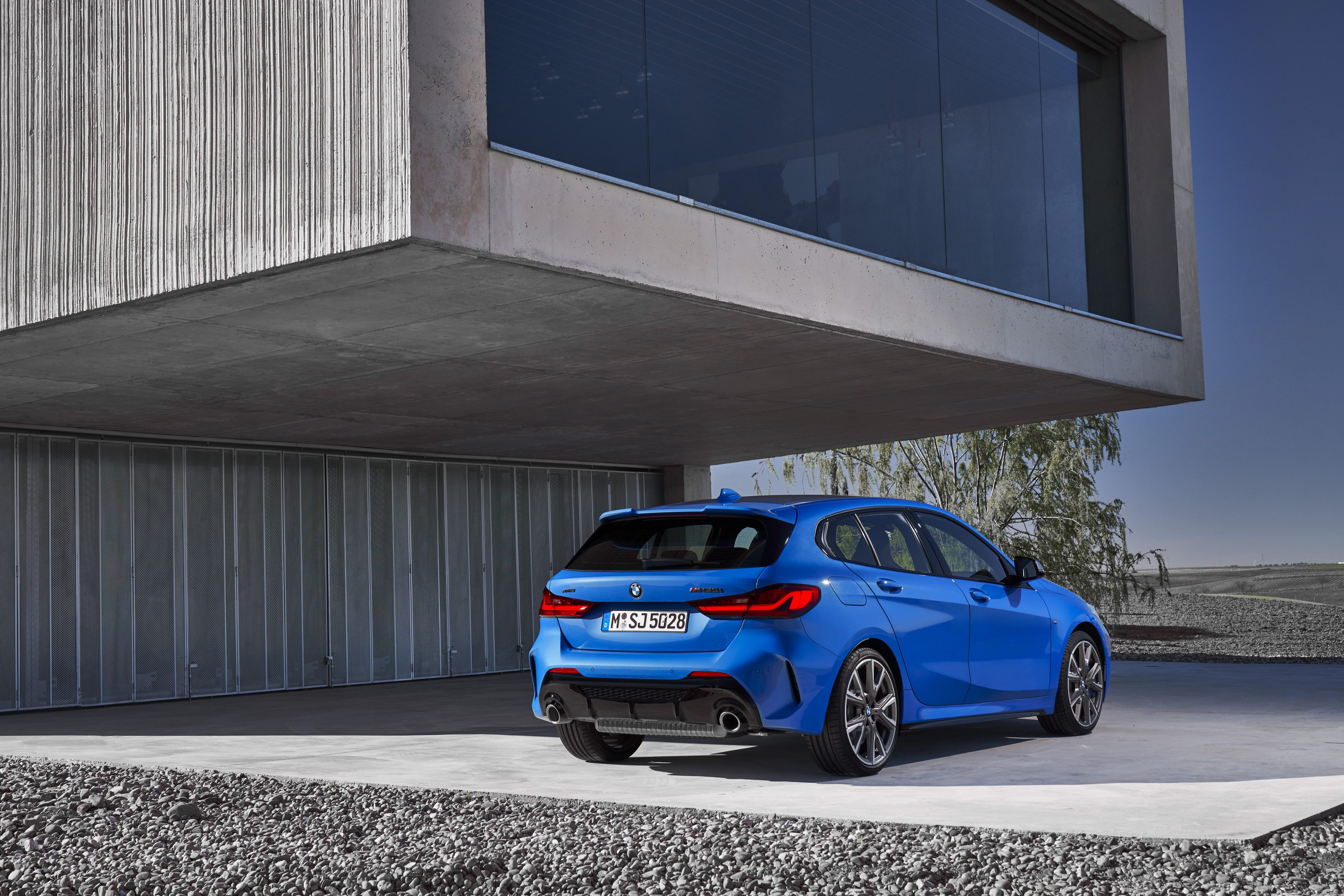 The all new BMW 1 Series rear angle shot