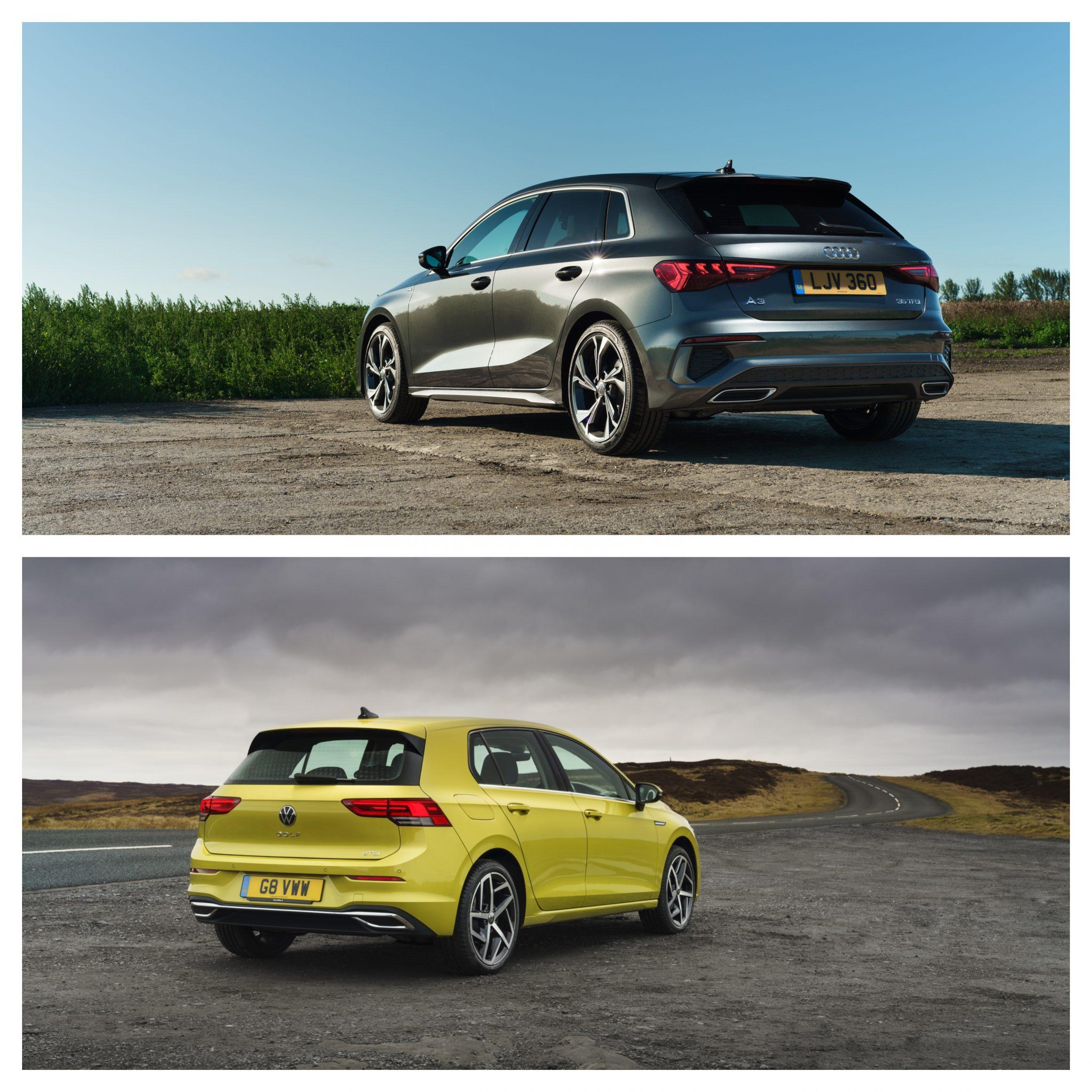 Audi A3 Vs Volkswagen Golf - exterior rear angle