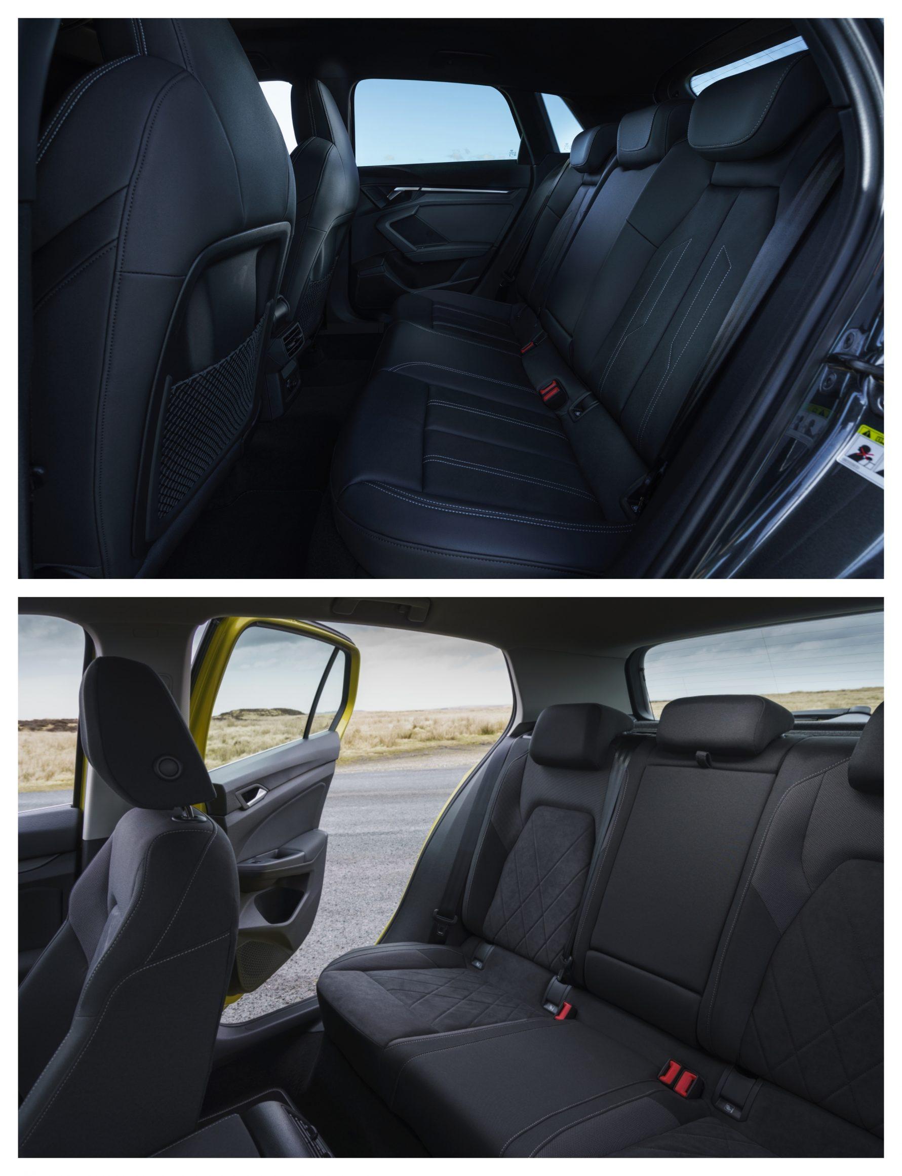 Audi A3 Vs Volkswagen Golf - interior design (space)