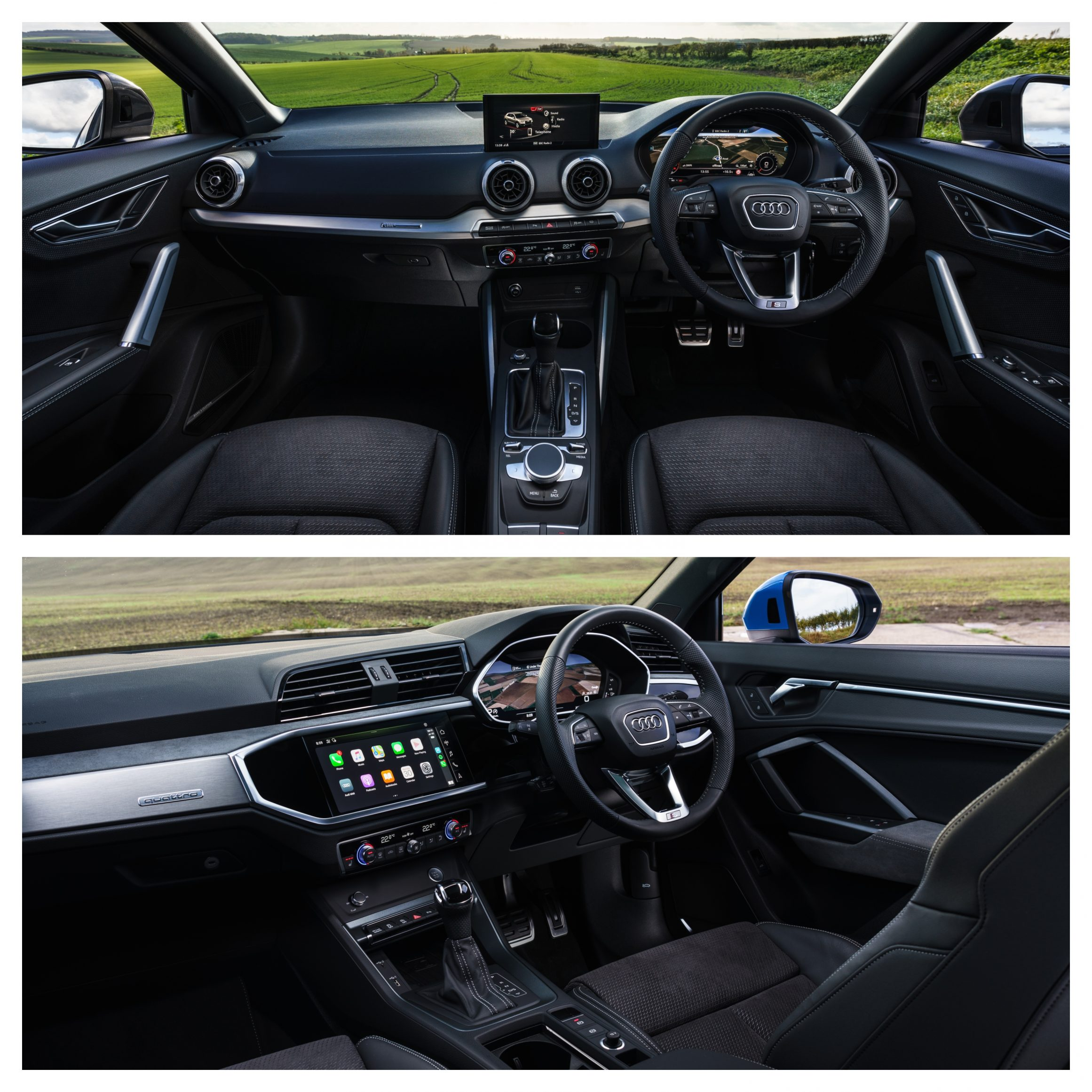 Audi Q2 Vs Audi Q3 - interior design