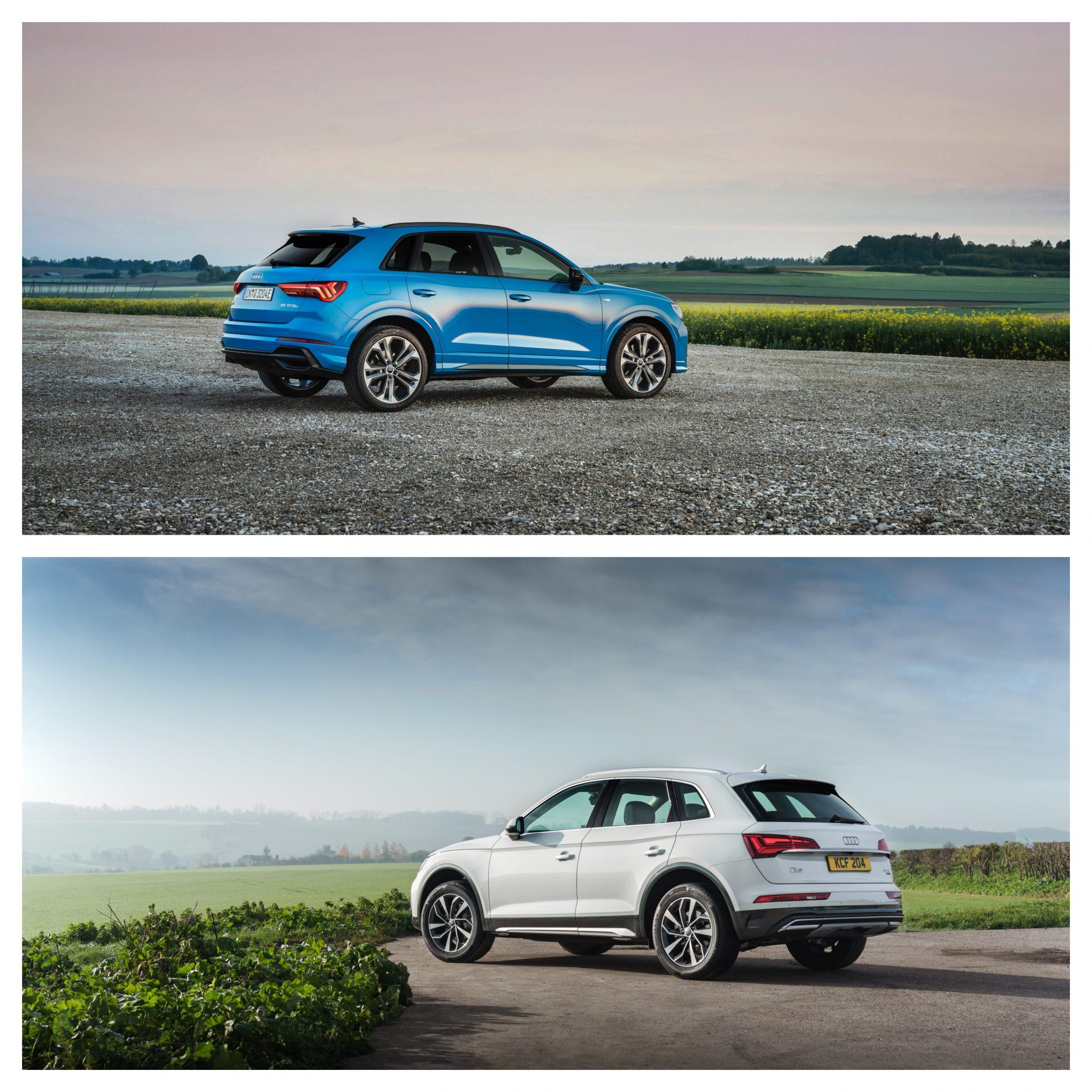 Audii Q3 Vs Q5 - exterior design rear angle shot