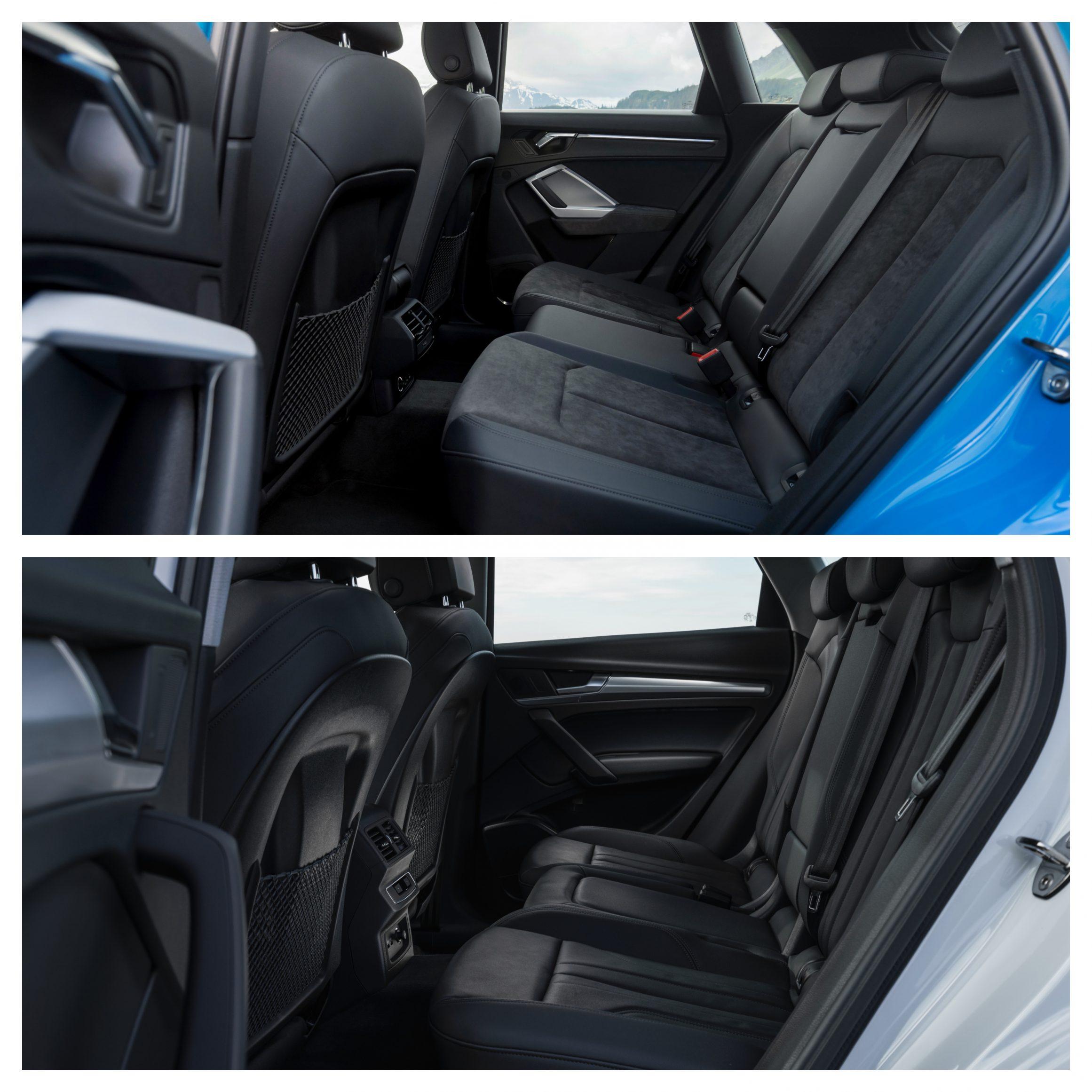 Audii Q3 Vs Q5 - interior space
