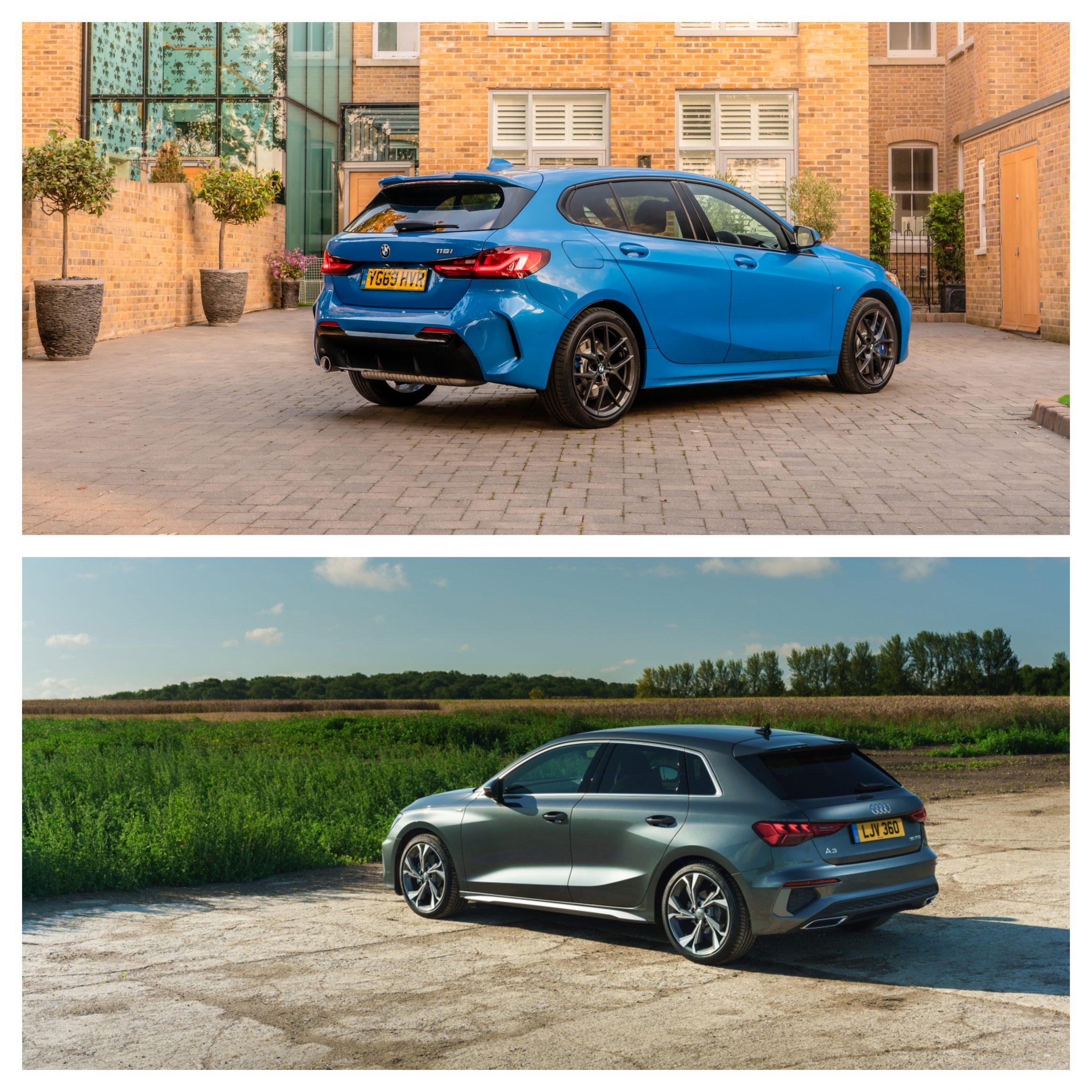 BMW 1 Series Vs Audi A3 - exterior design shot rear