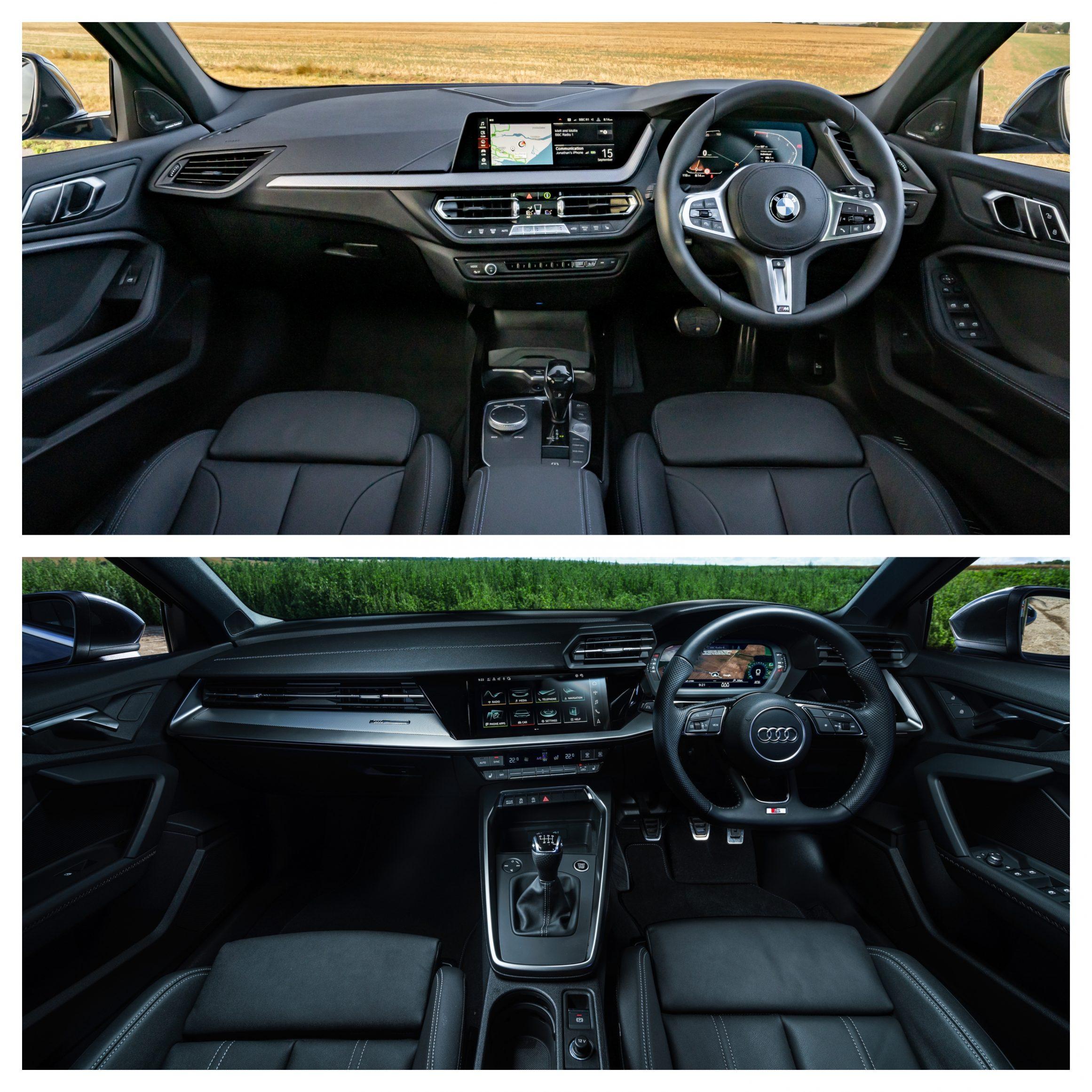 BMW 1 Series Vs Audi A3 - interior design