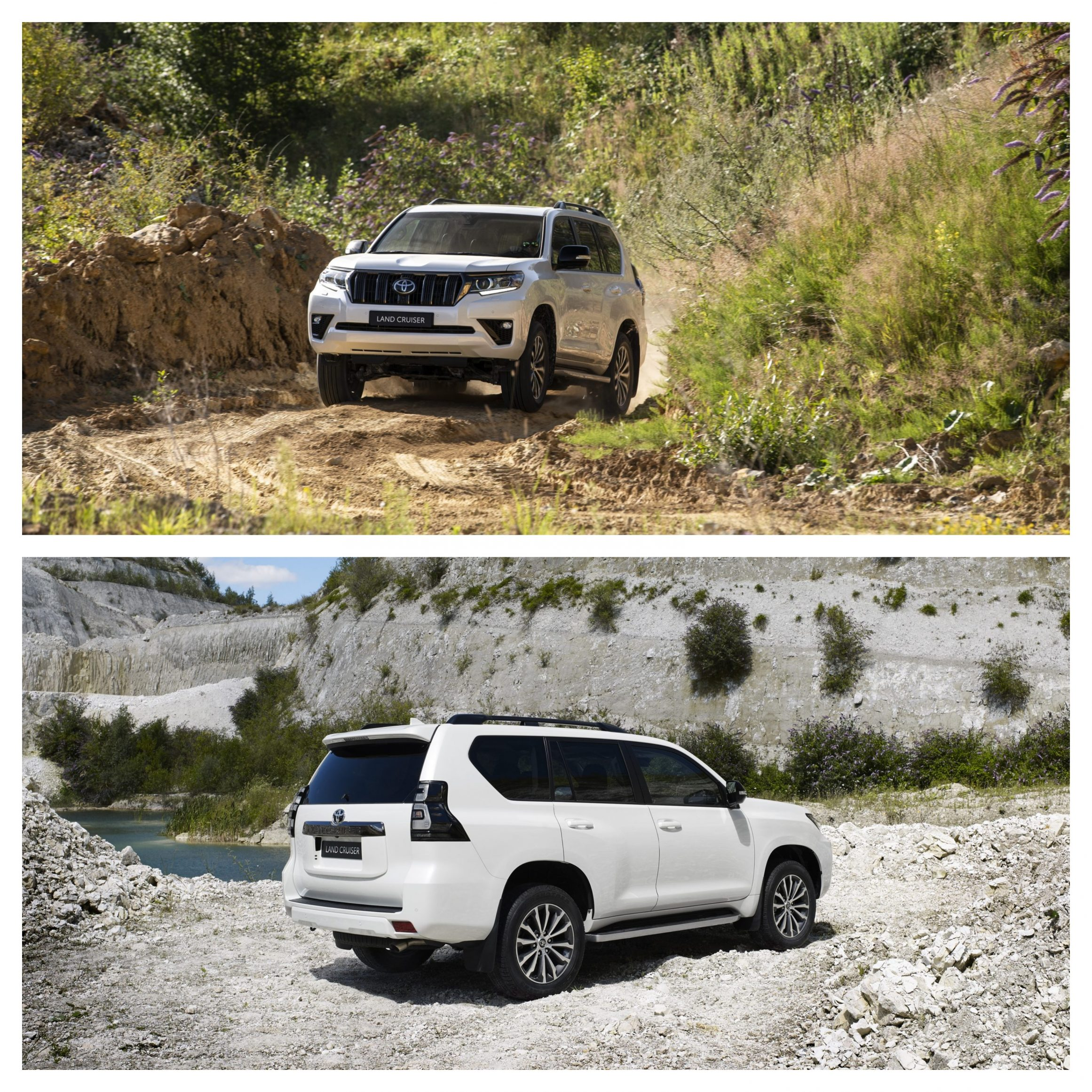 New Toyota Land Cruiser front and rear driving shot
