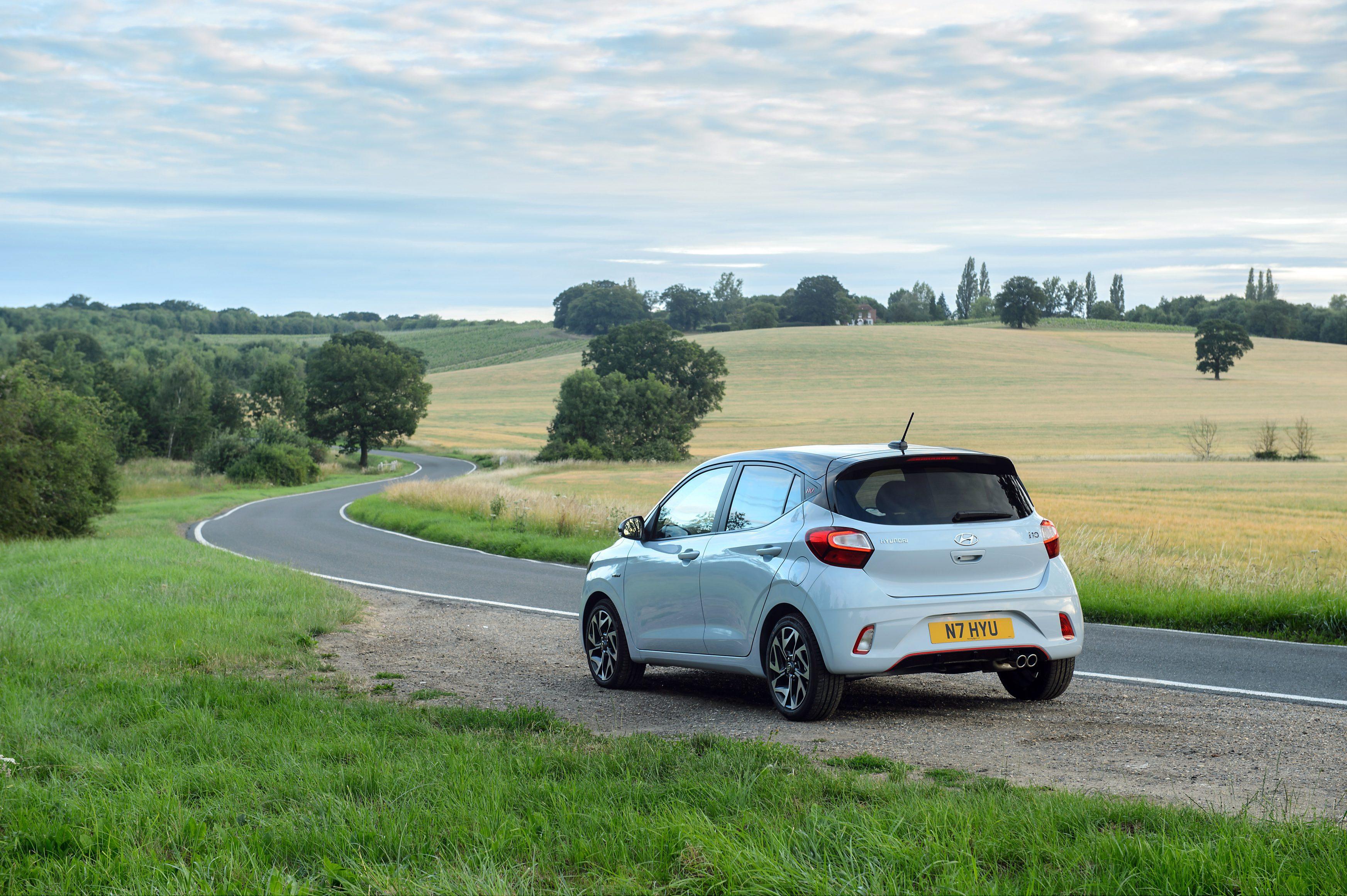 Best city cars UK - Hyundai i10 N Line rear side shot