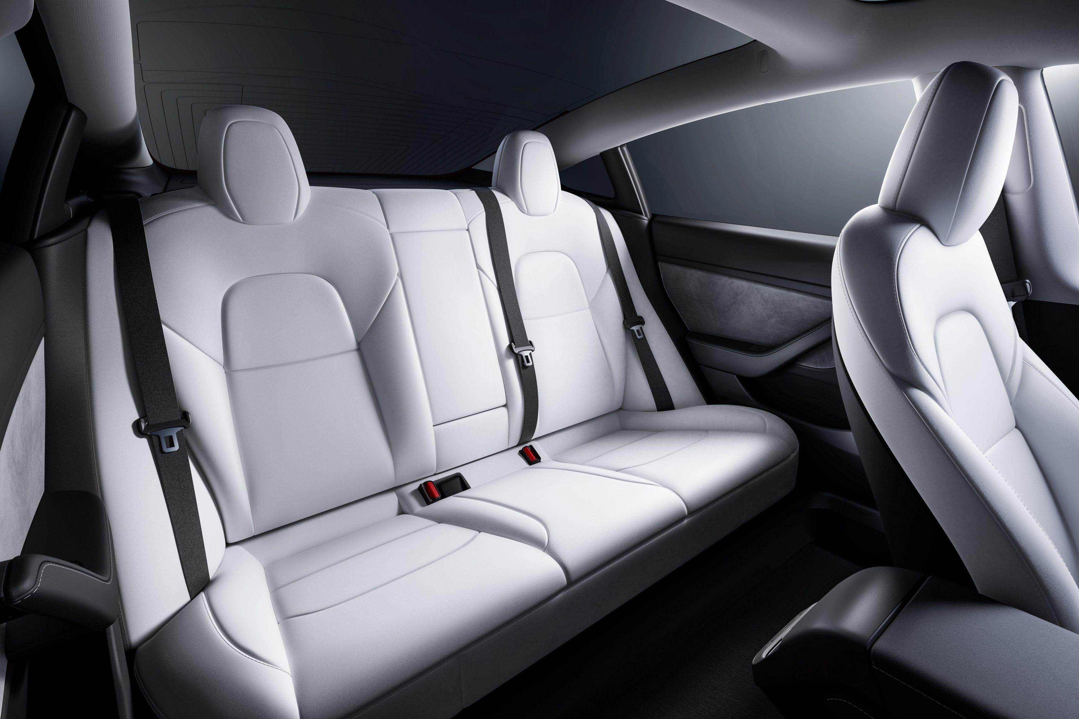 2021 Tesla Model 3 back seats