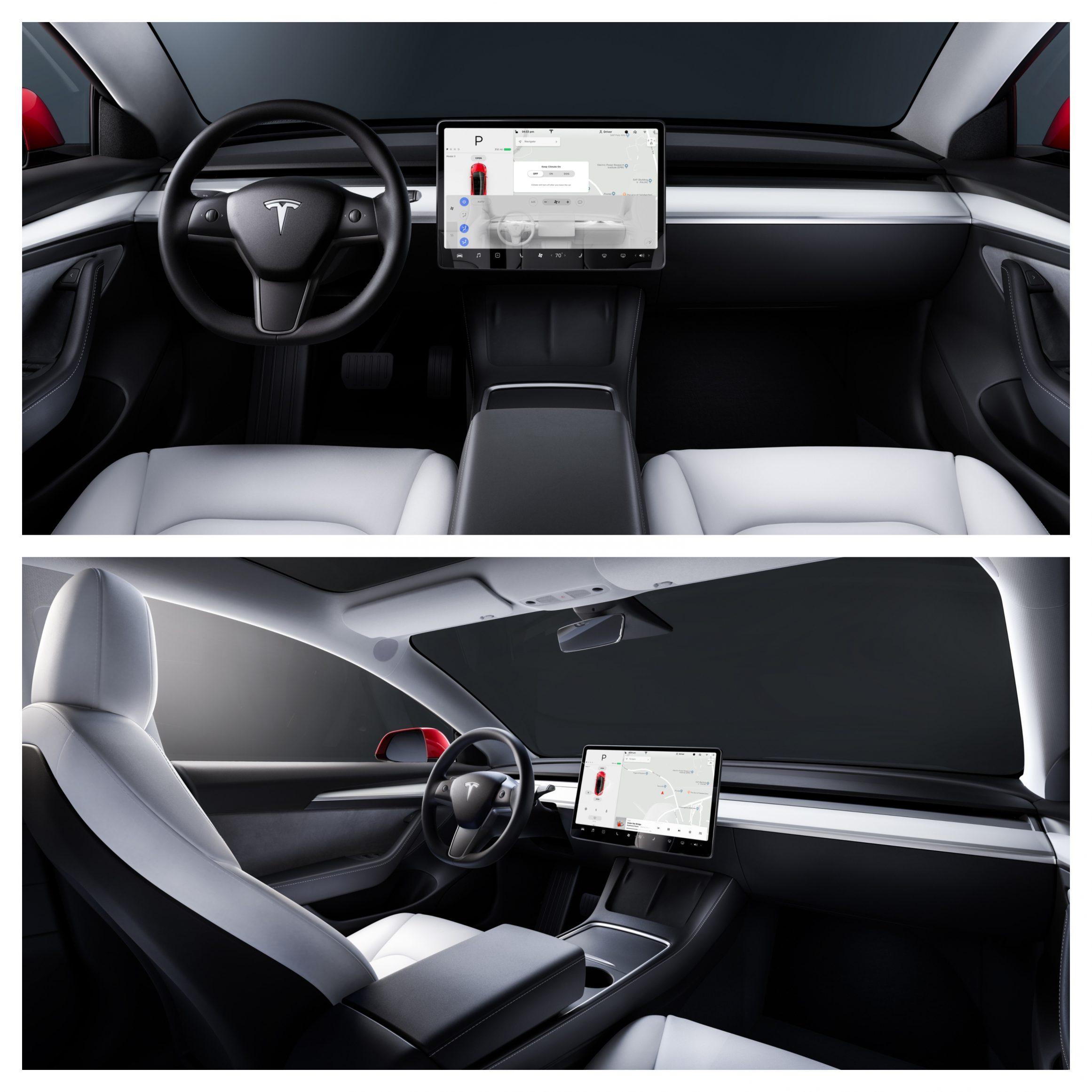 2021 Tesla Model 3 interior