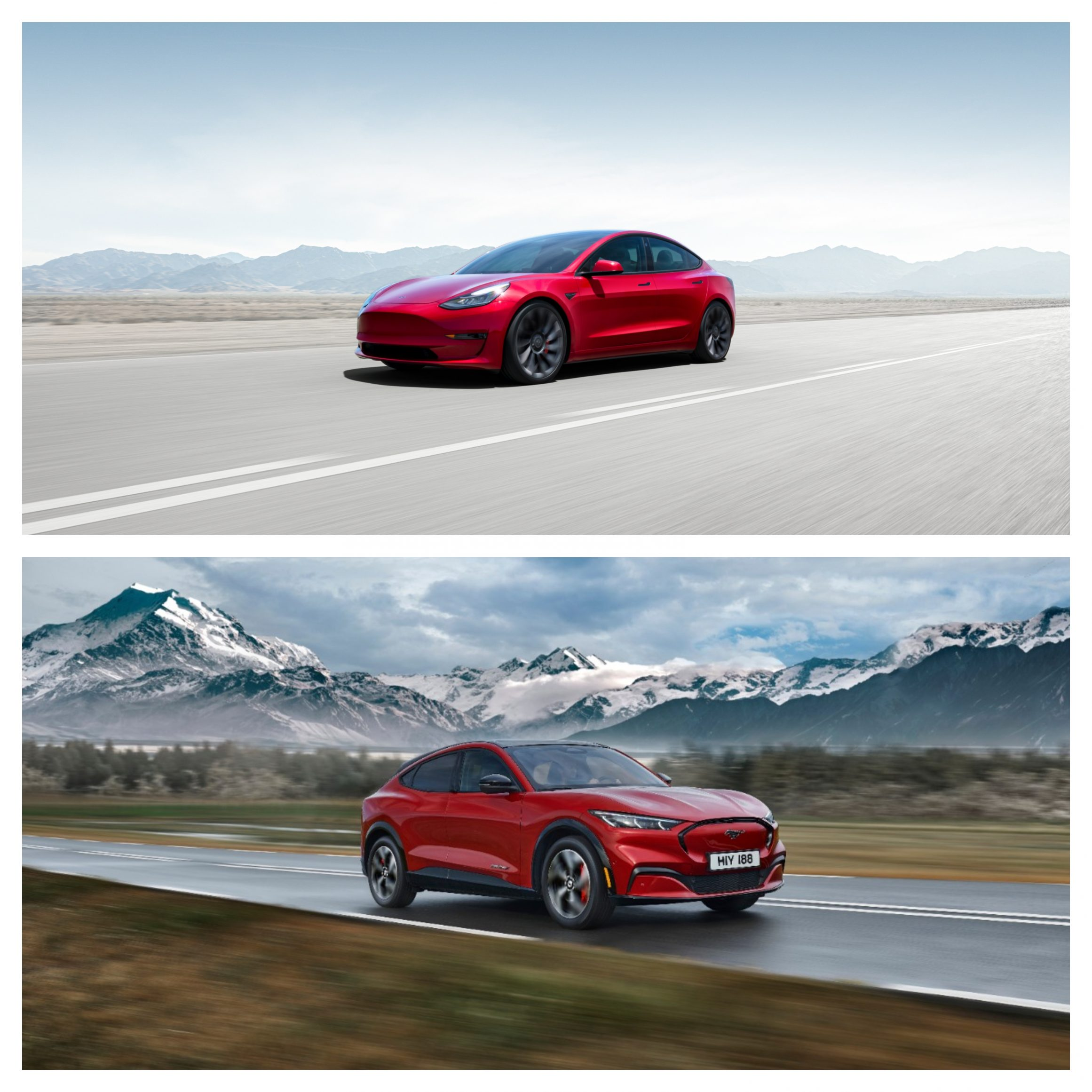Tesla Model 3 Vs Ford Mustang Mach-E - design