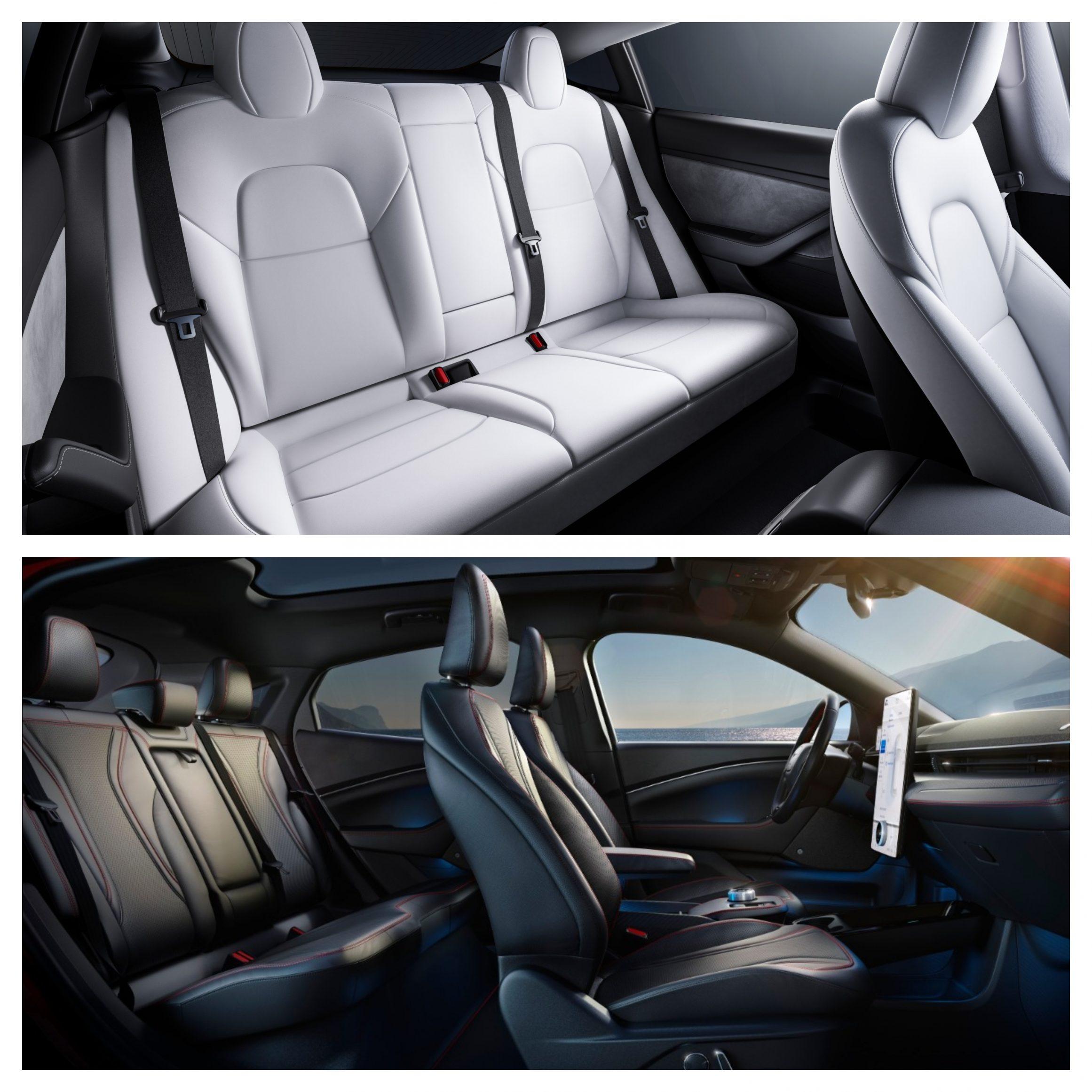 Tesla Model 3 Vs Ford Mustang Mach-E - interior space