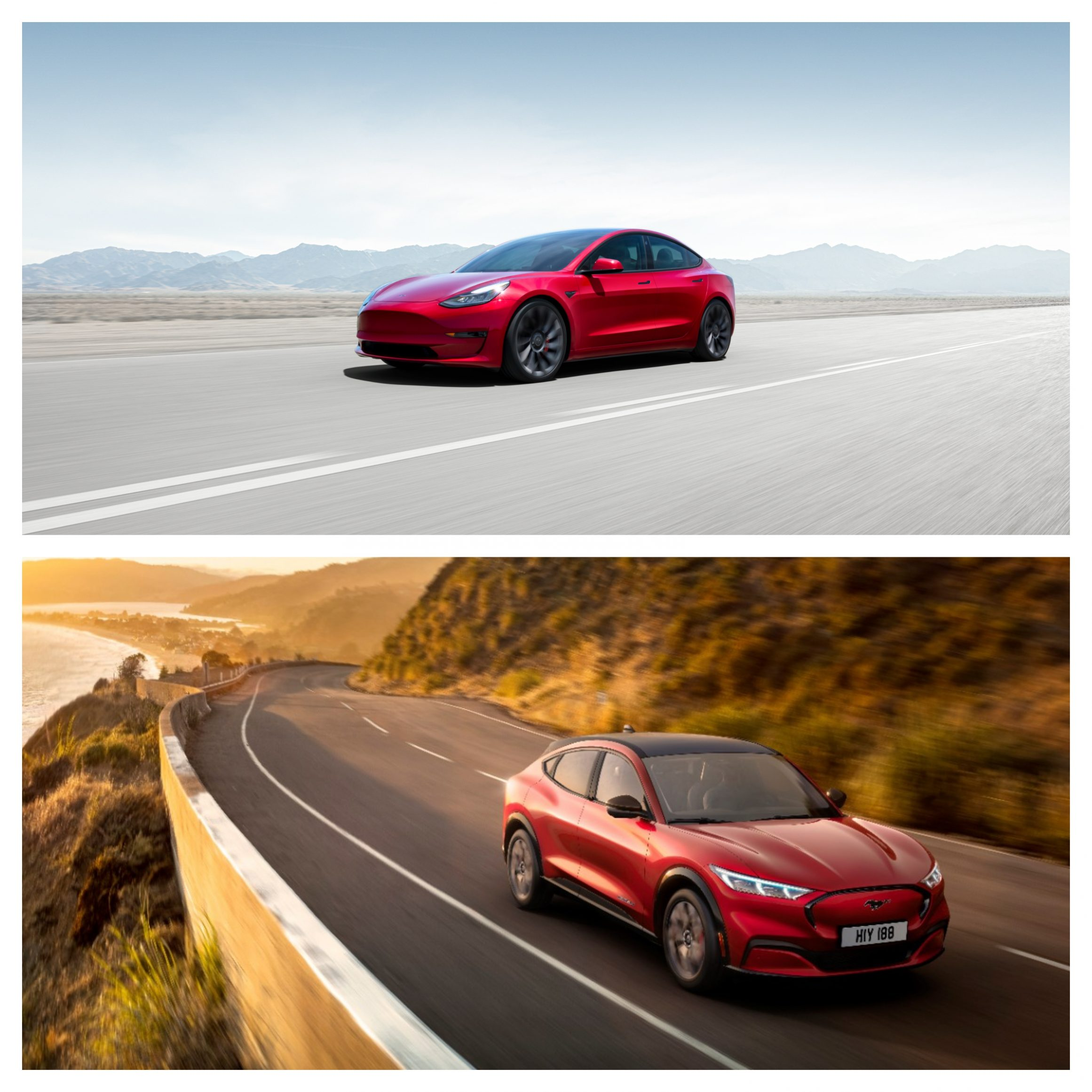Tesla Model 3 Vs Ford Mustang Mach-E - performance and price