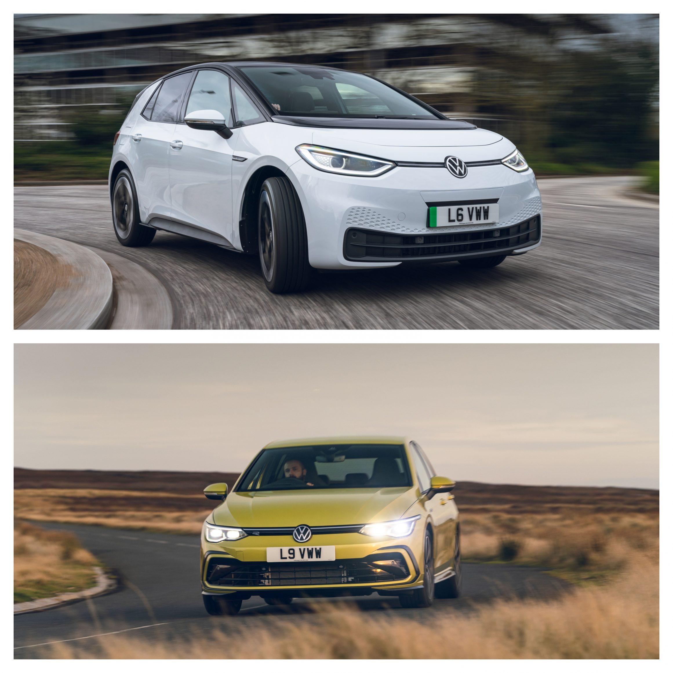 Volkswagen ID.3 Vs Volkswagen Golf - driving